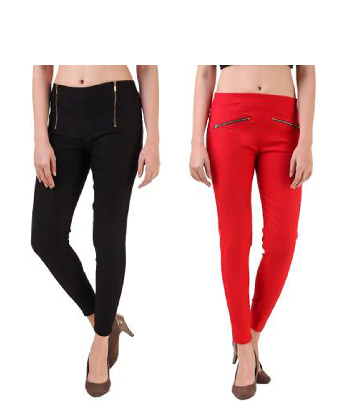 I KING BLACK, RED JEGGING (SOLID)