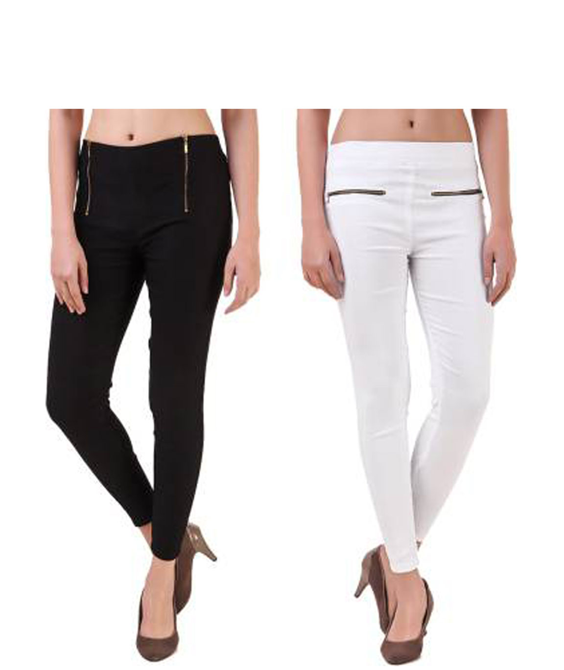 I KING BLACK, WHITE JEGGING (SOLID)