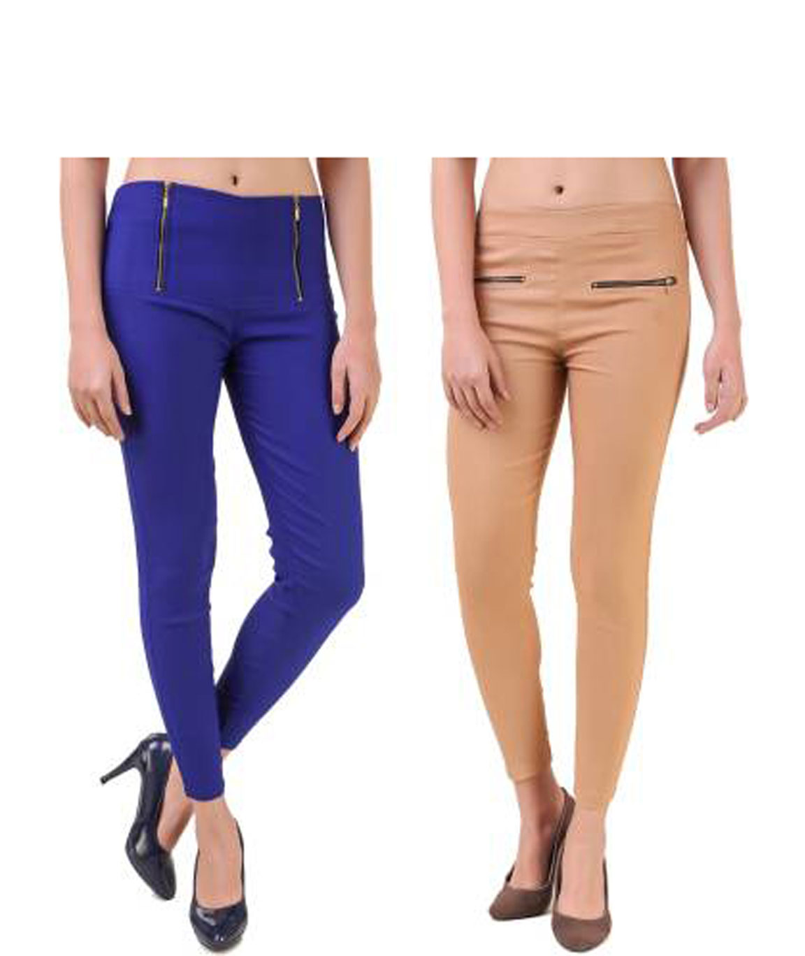 I KING BLUE BEIGE JEGGING (SOLID)