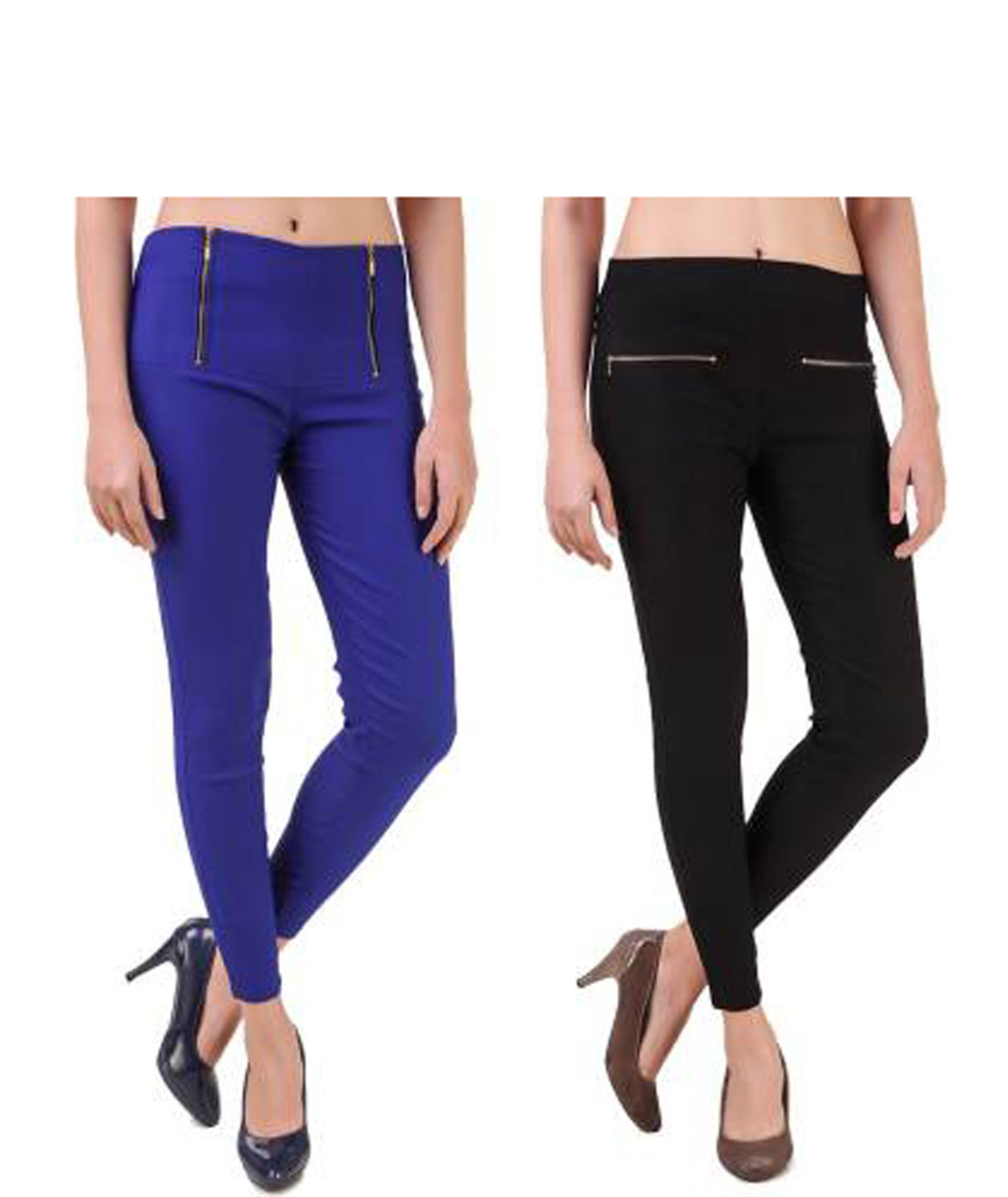 I KING BLUE, BLACK JEGGING (SOLID)