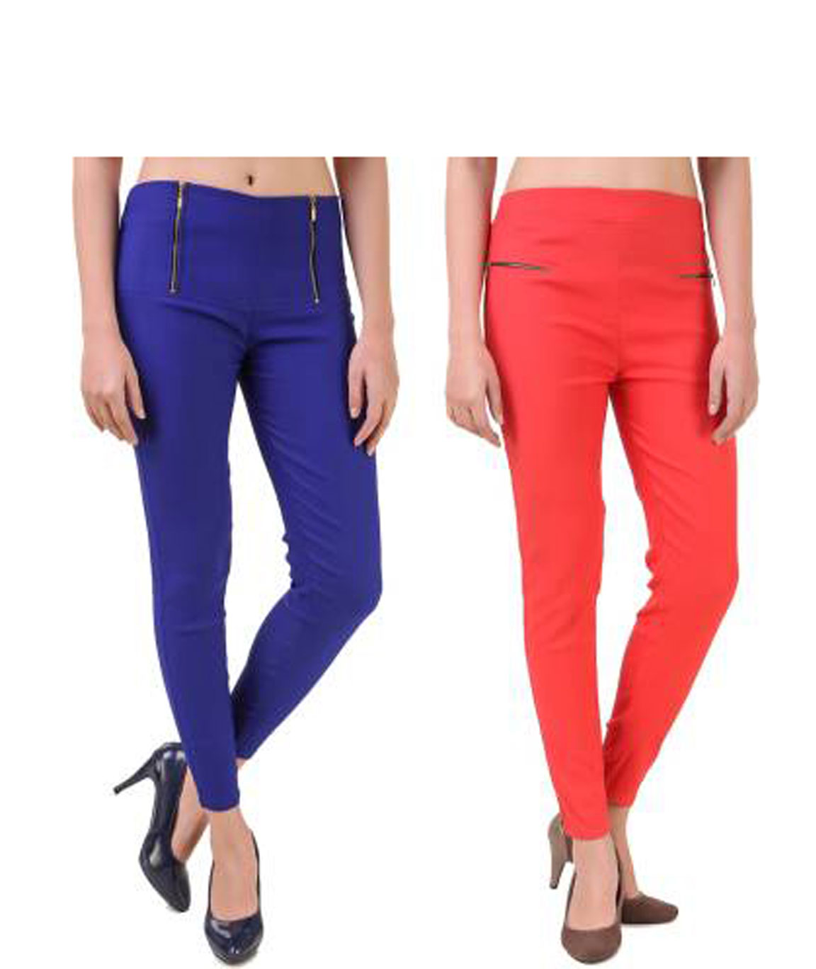 I KING BLUE, ORANGE JEGGING (SOLID)
