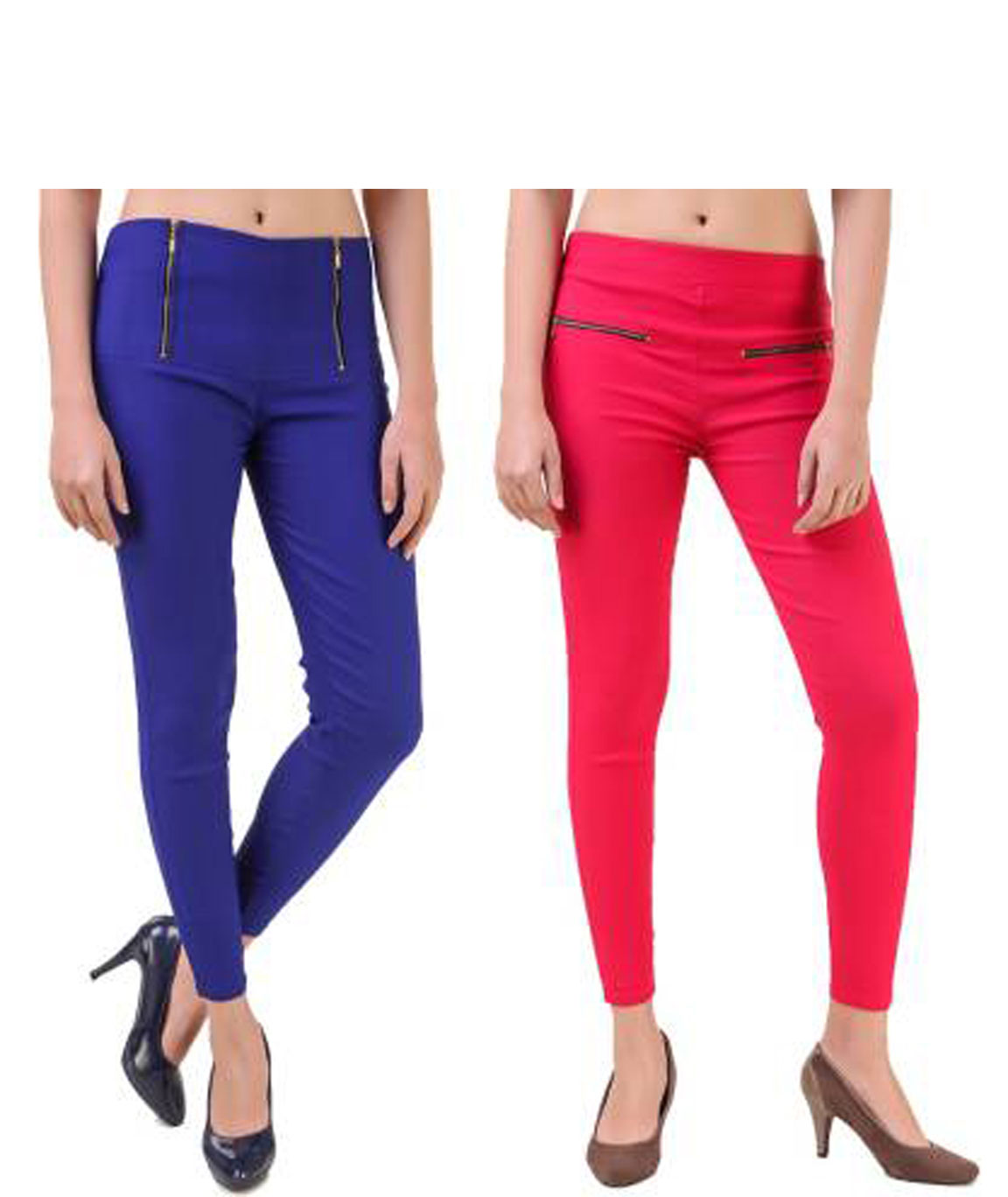 I KING BLUE, PINK JEGGING (SOLID)