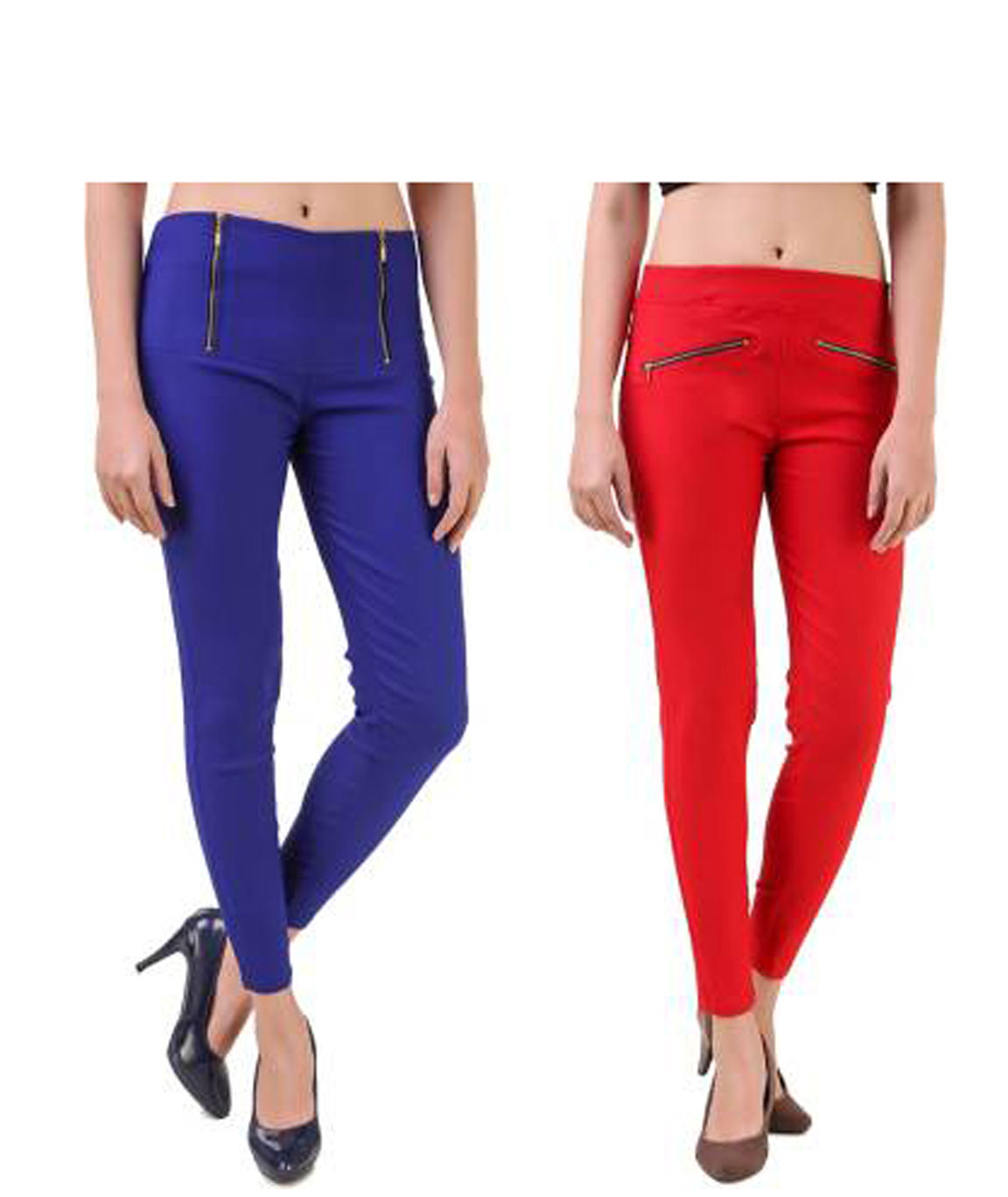 I KING BLUE, RED JEGGING (SOLID)