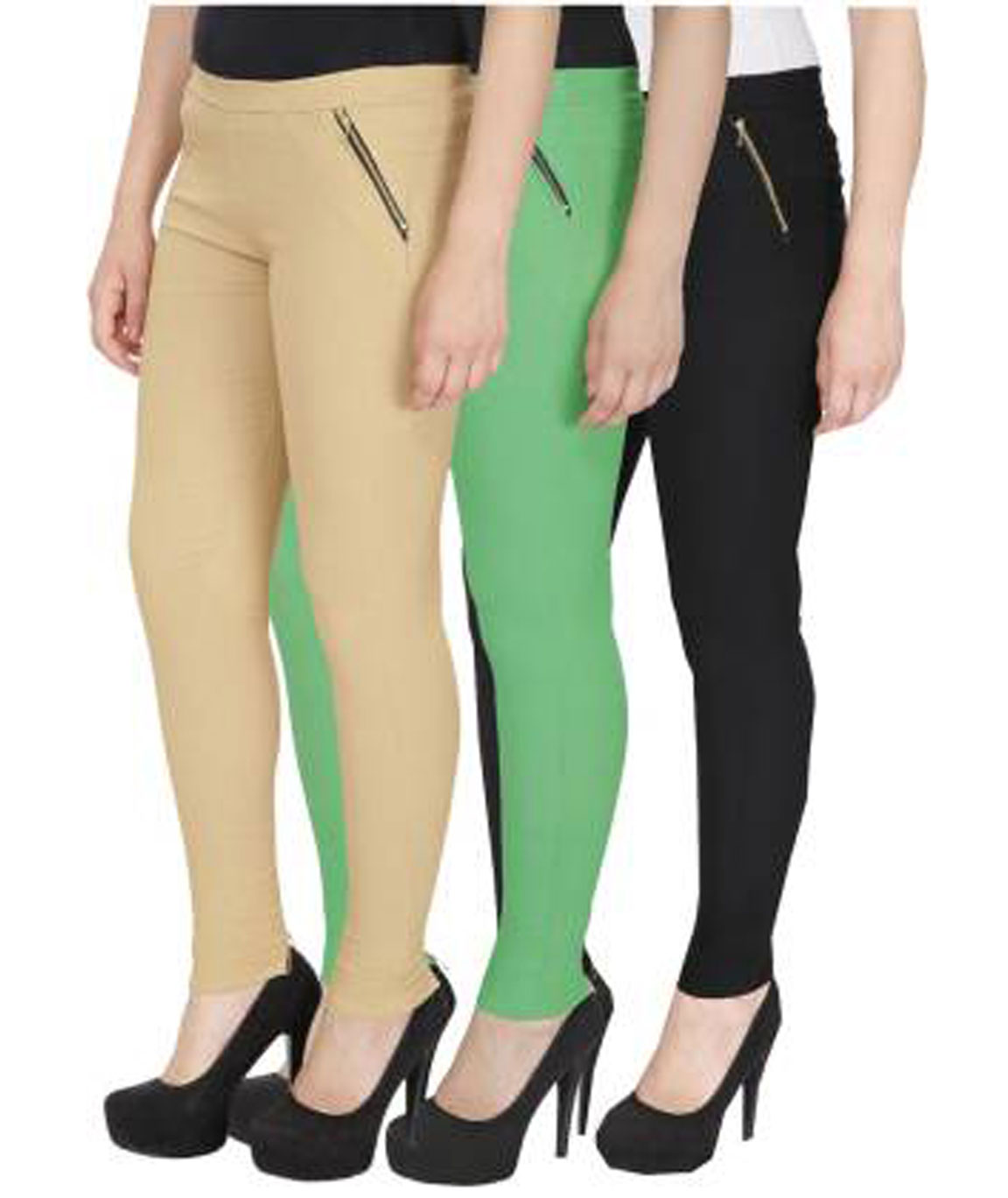 I KING GREEN, BEIGE, BLACK JEGGING (SOLID)