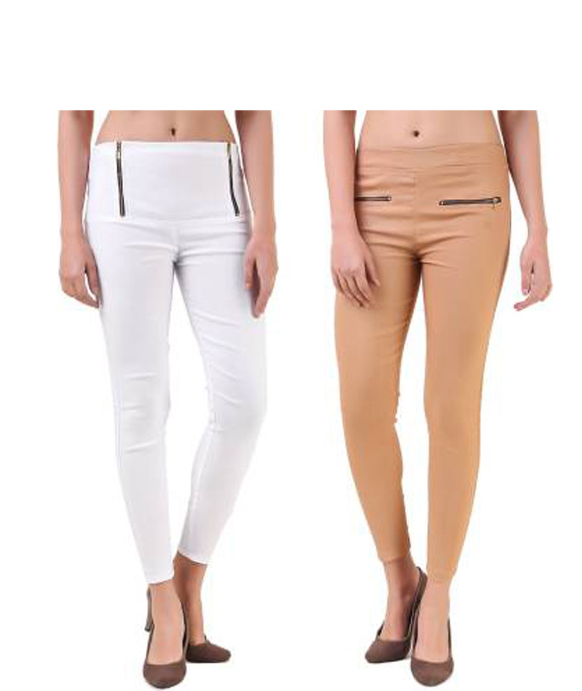 I KING WHITE, BEIGE JEGGING (SOLID)