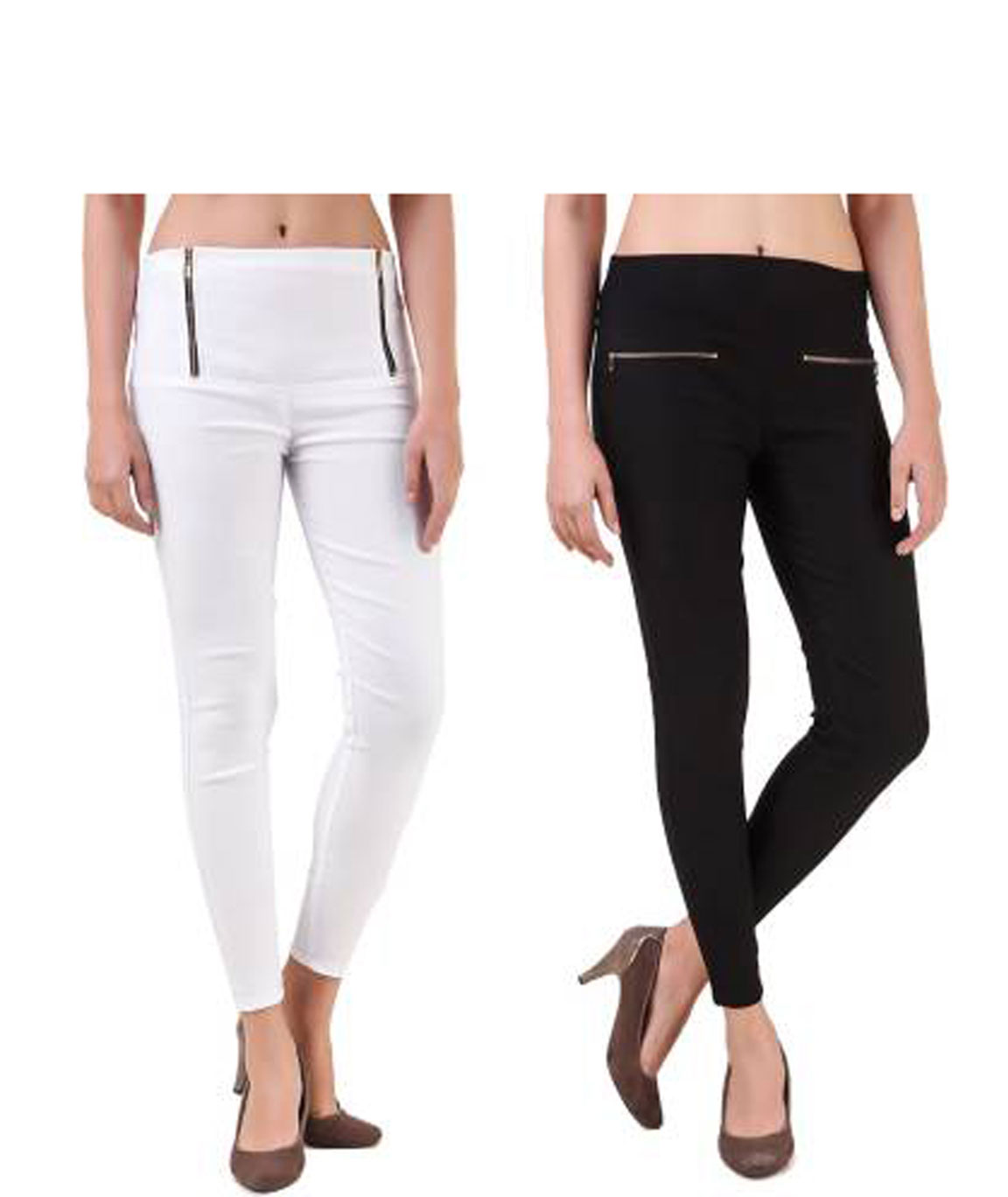 I KING WHITE, BLACK JEGGING (SOLID)