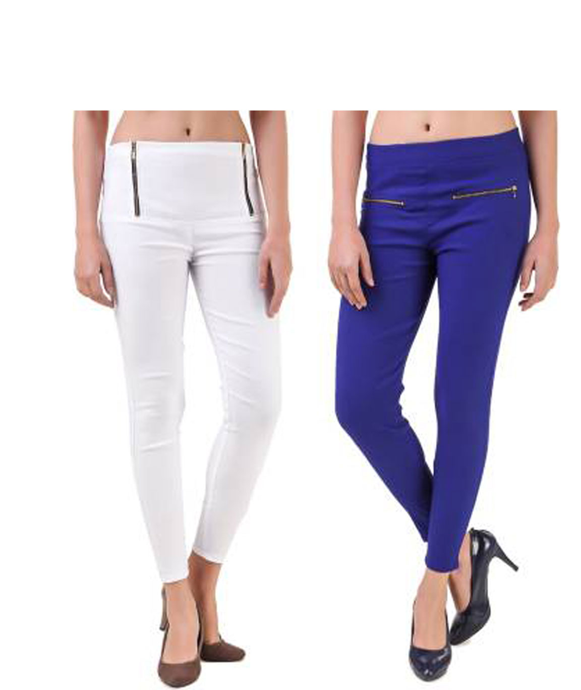 I KING WHITE, BLUE JEGGING (SOLID)