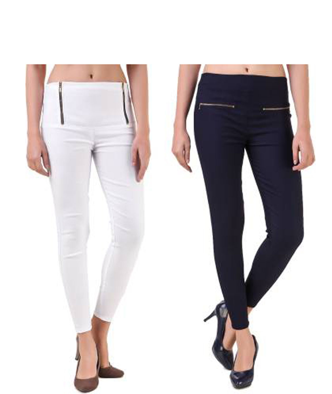 I KING WHITE, NAVY BLUE JEGGING  (SOLID)