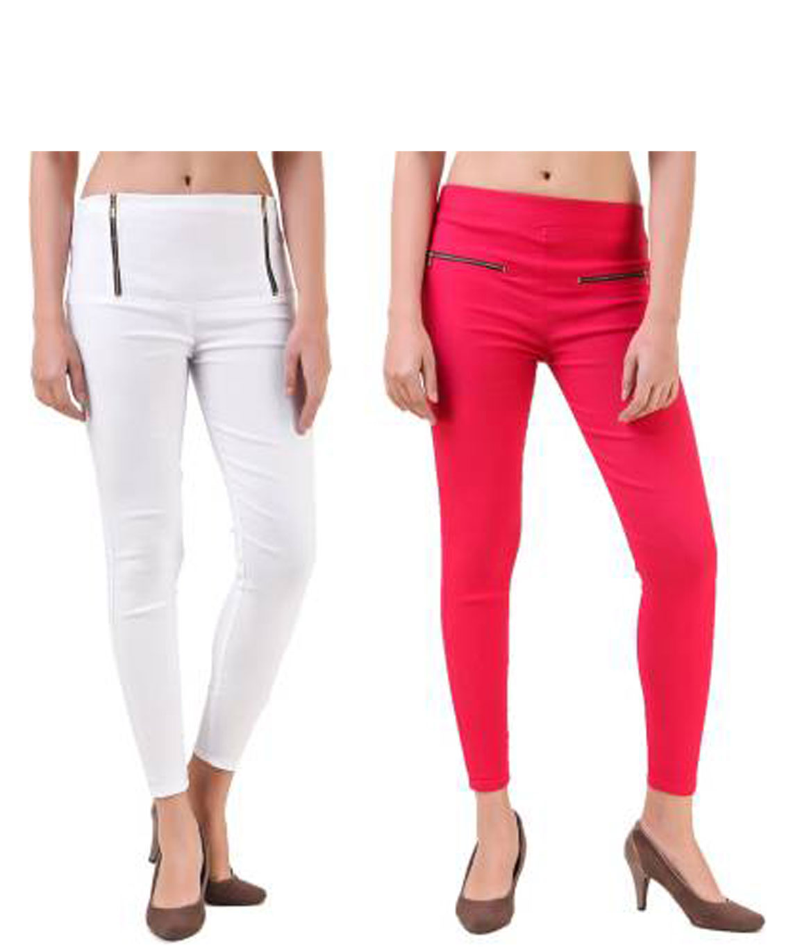 I KING WHITE, PINK JEGGING (SOLID)