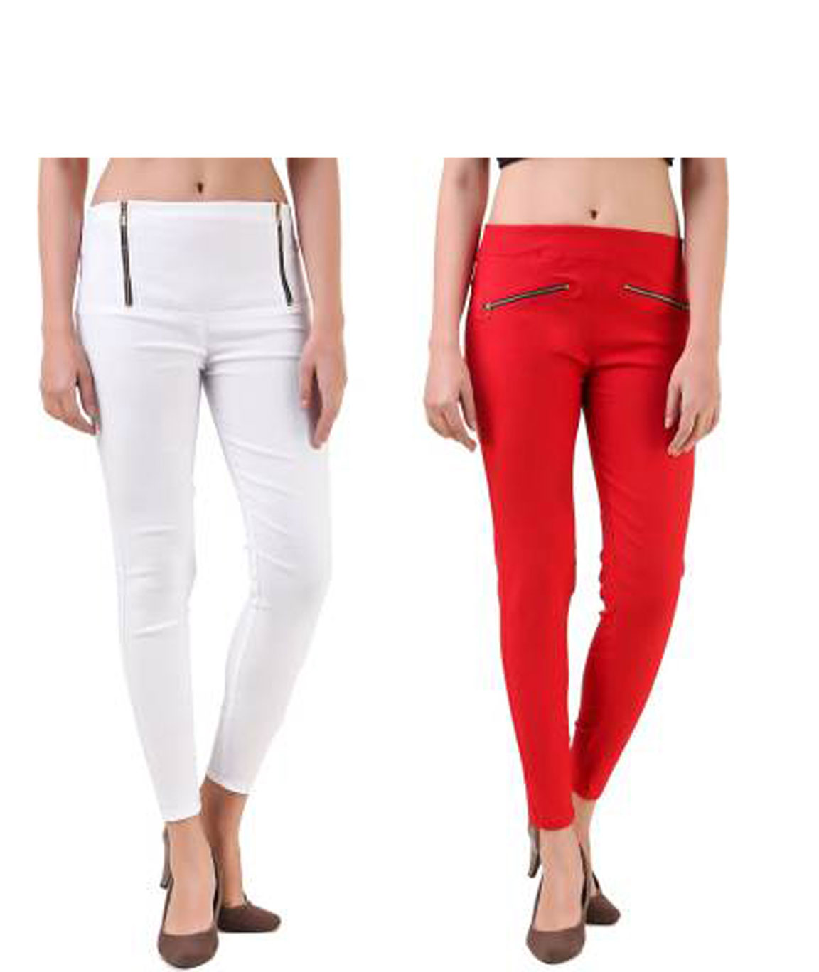 I KING WHITE,RED JEGGING (SOLID)