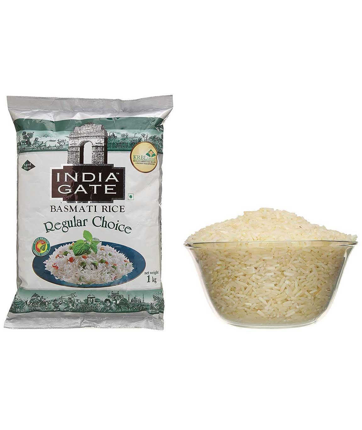 India Gate Basmati Rice, Regular Choice, 1kg