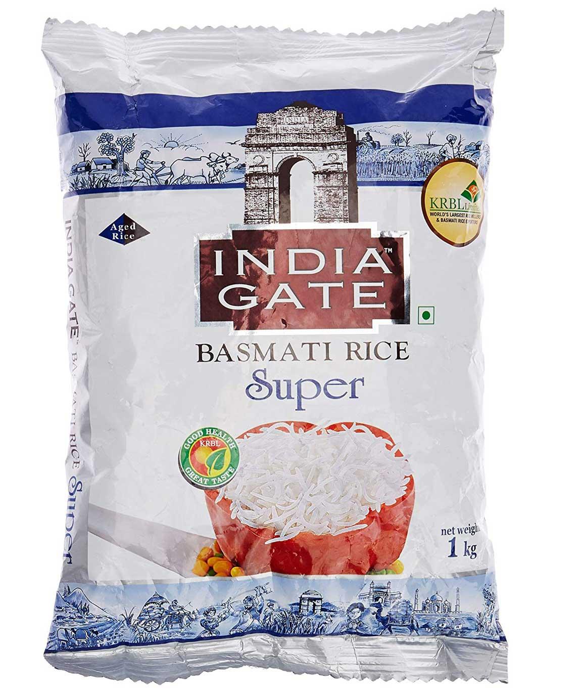 India Gate Basmati Rice Super, 1kg