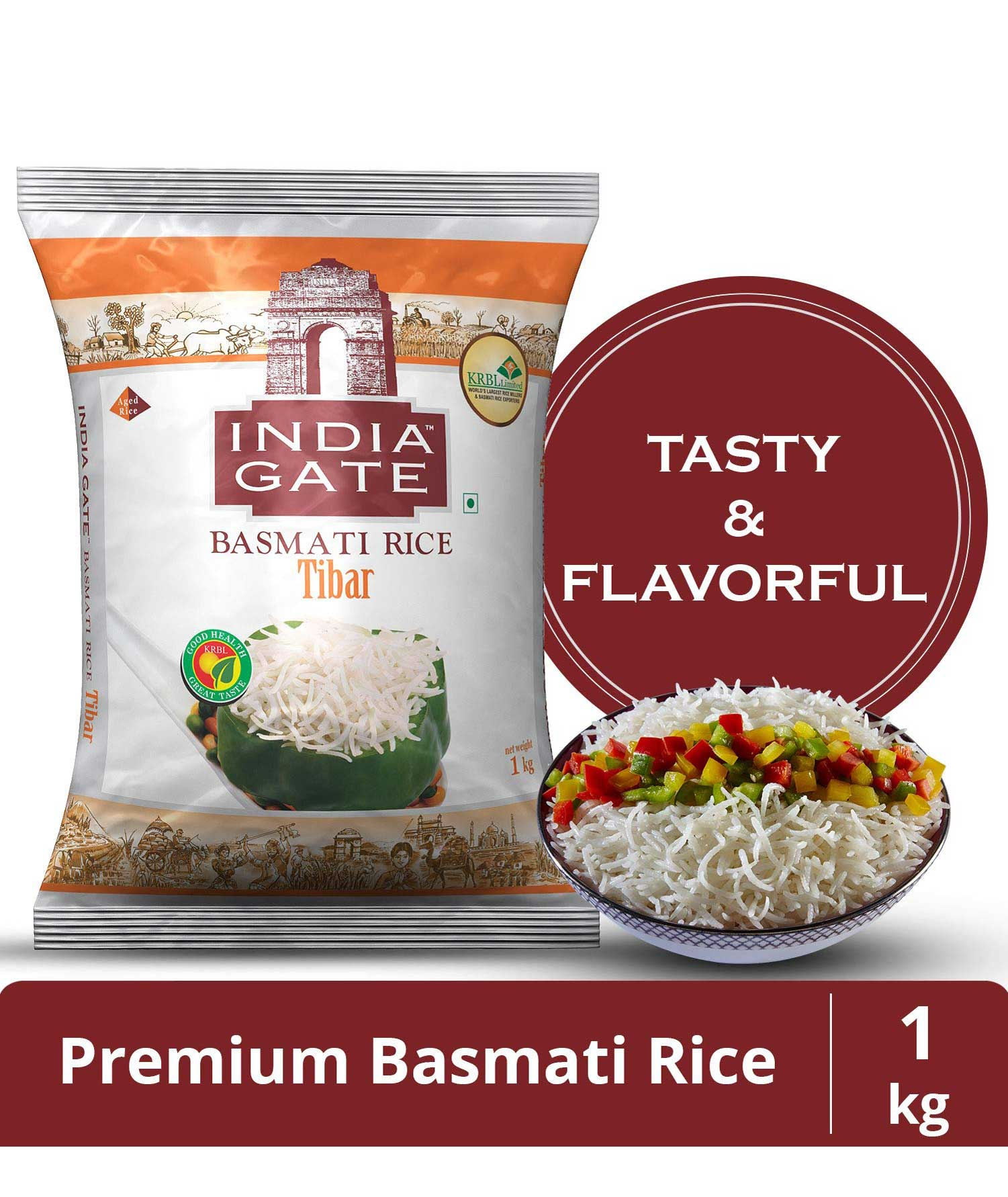 India Gate Basmati Rice Tibar, 1kg