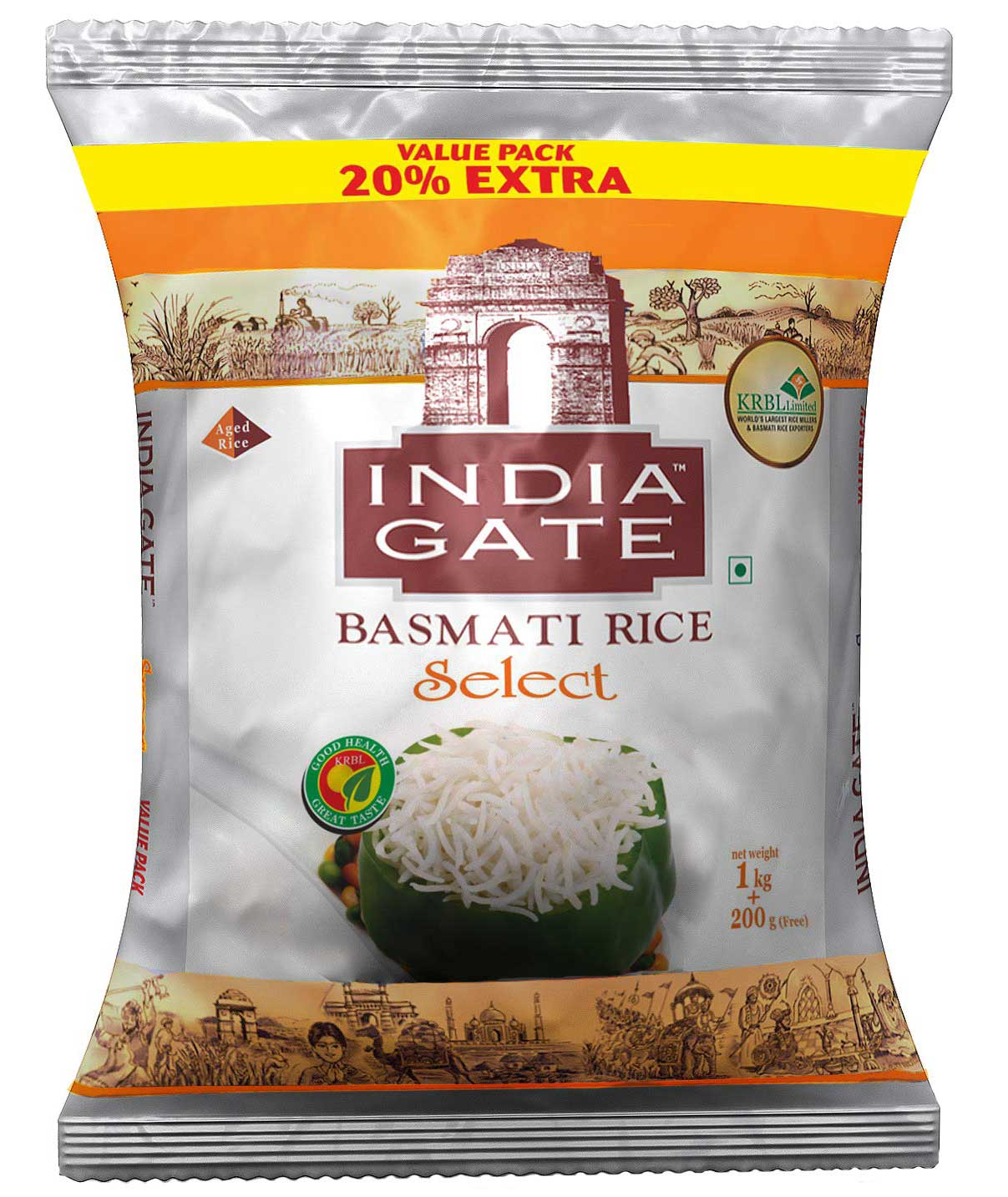 India Gate Select, 1kg with Free 200g