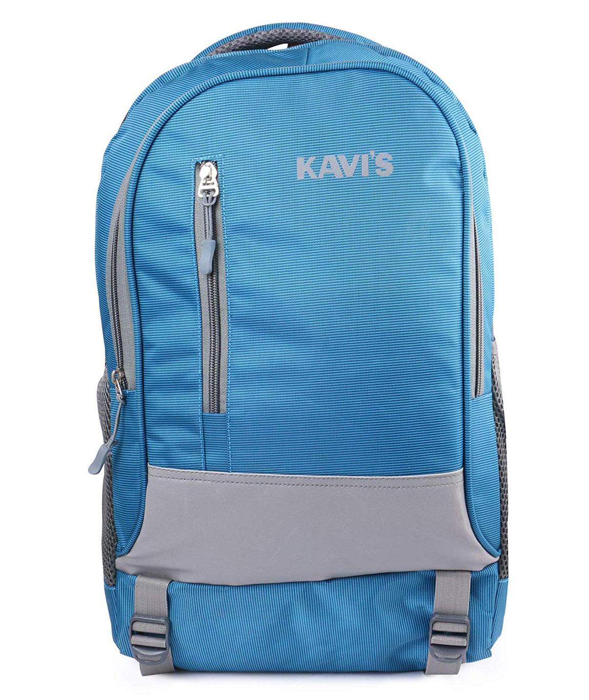 Kavi`s 18 Inch Nylon Polyester Laptop Backpack (sky blue)