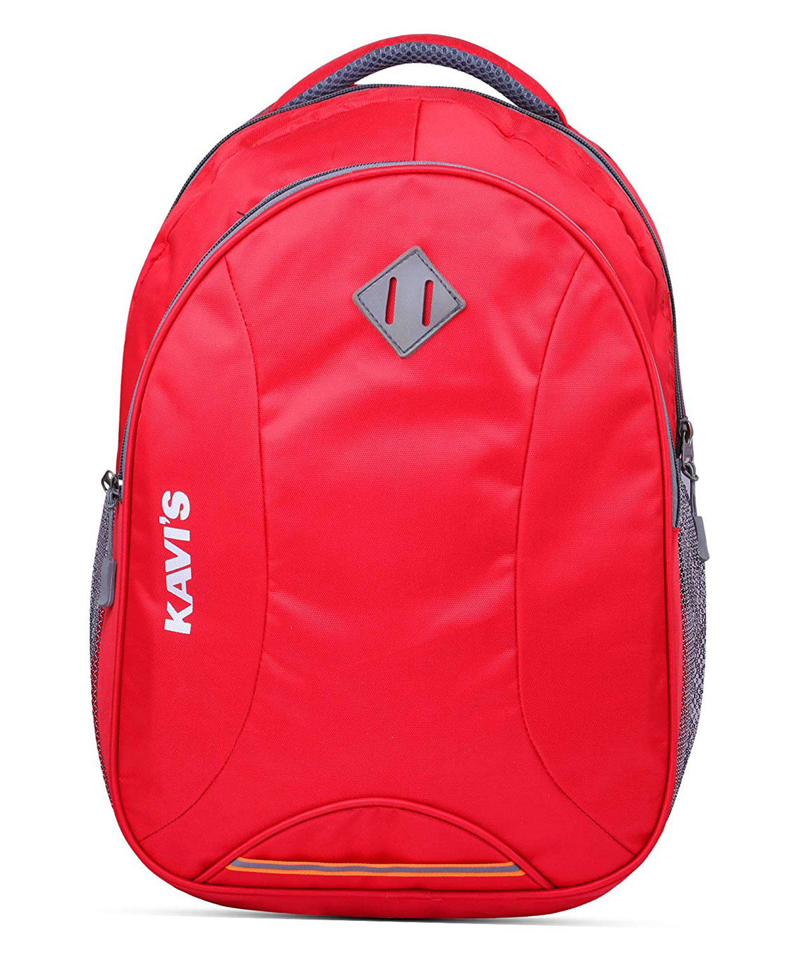 Kavi`s Casual Nylon Polyester 17-inch Multifunctional Laptop Backpack for Girls and Boys with Rain Cover (Red)