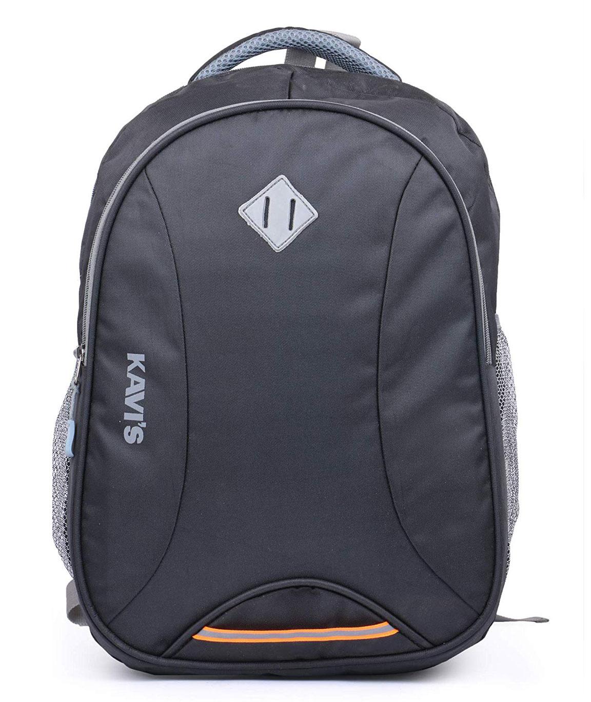Kavi`s Laptop Backpack   Bag for Girls and Boys   School Bag for Kids with Rain Cover (Black)