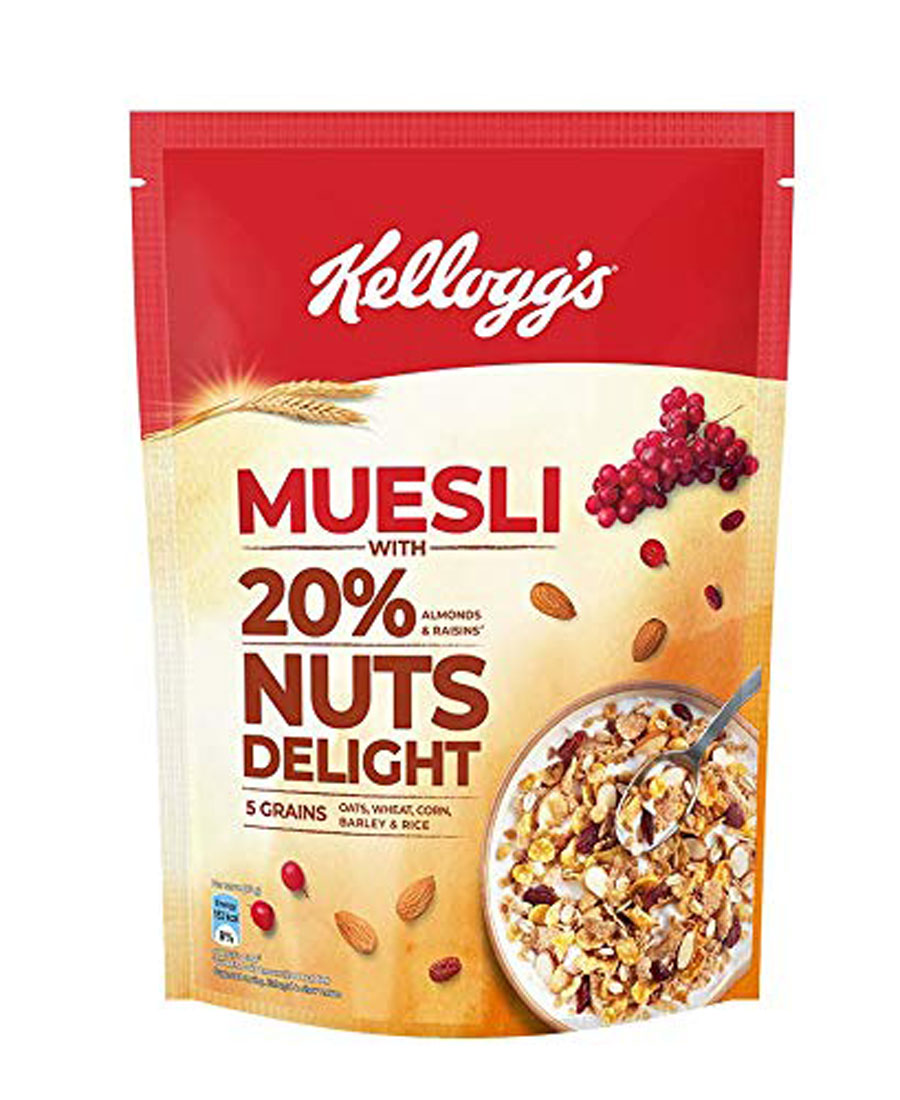 Kelloggs Muesli - With 20% Nuts Delight, 750 gm Pouch