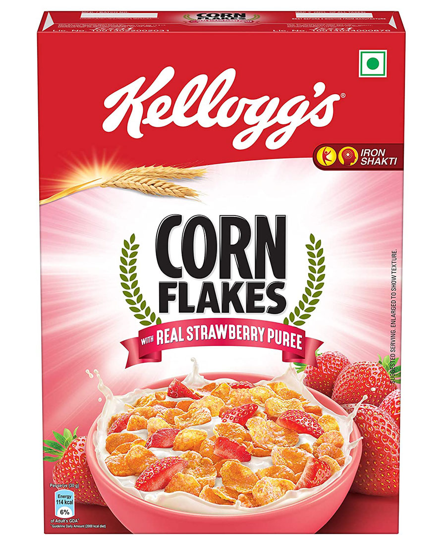 Kelloggs Strawberry Corn Flakes, 575 gm