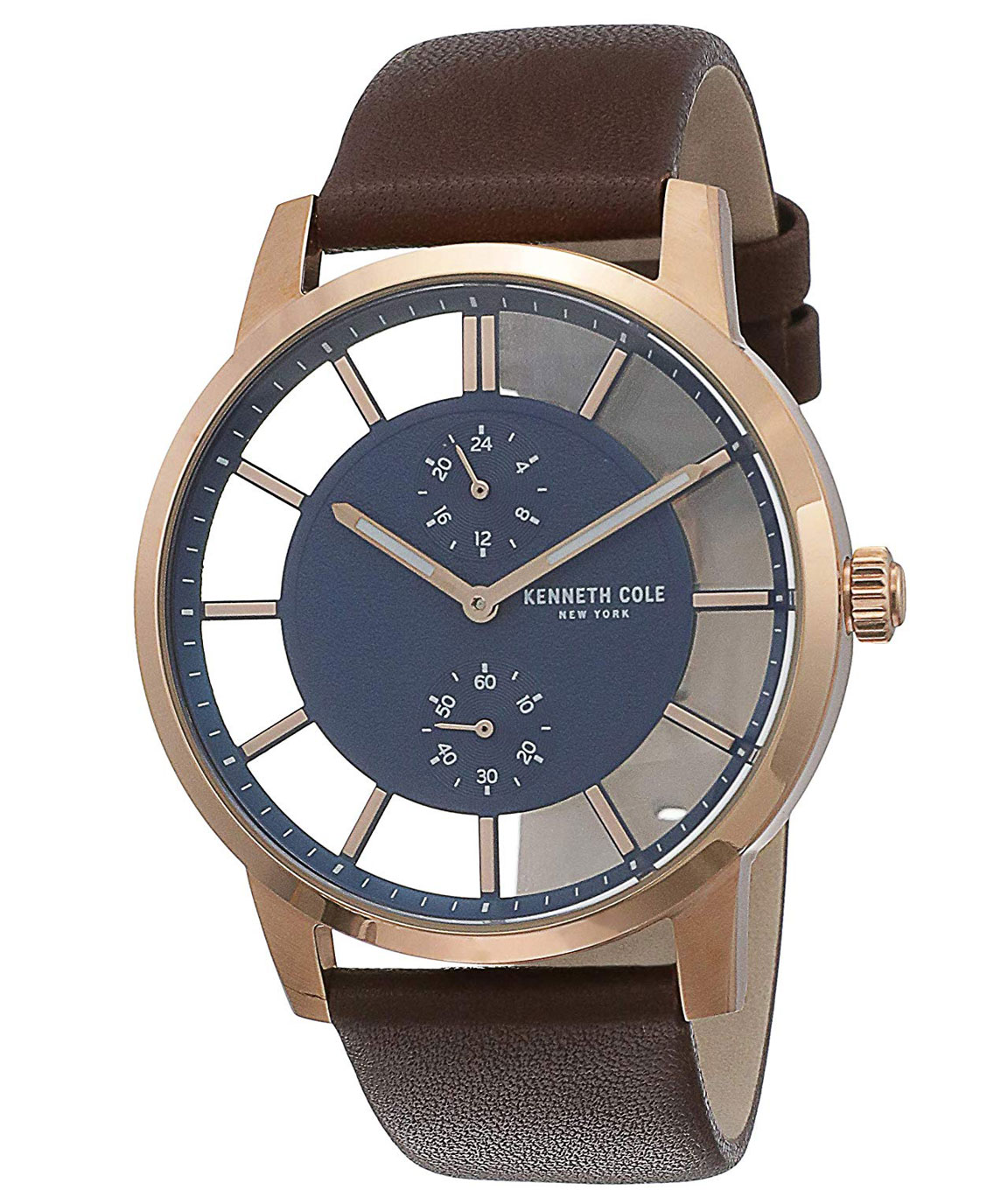Kenneth Cole Analog Blue Dial Men`s Watch
