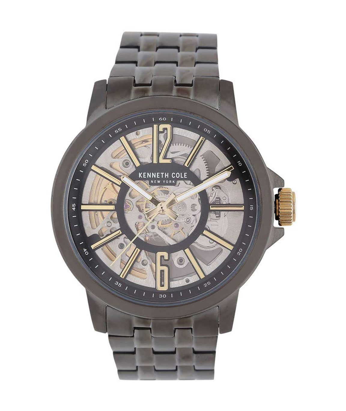 Kenneth Cole Automatic Analog Gunmetal Dial Men`s Watch