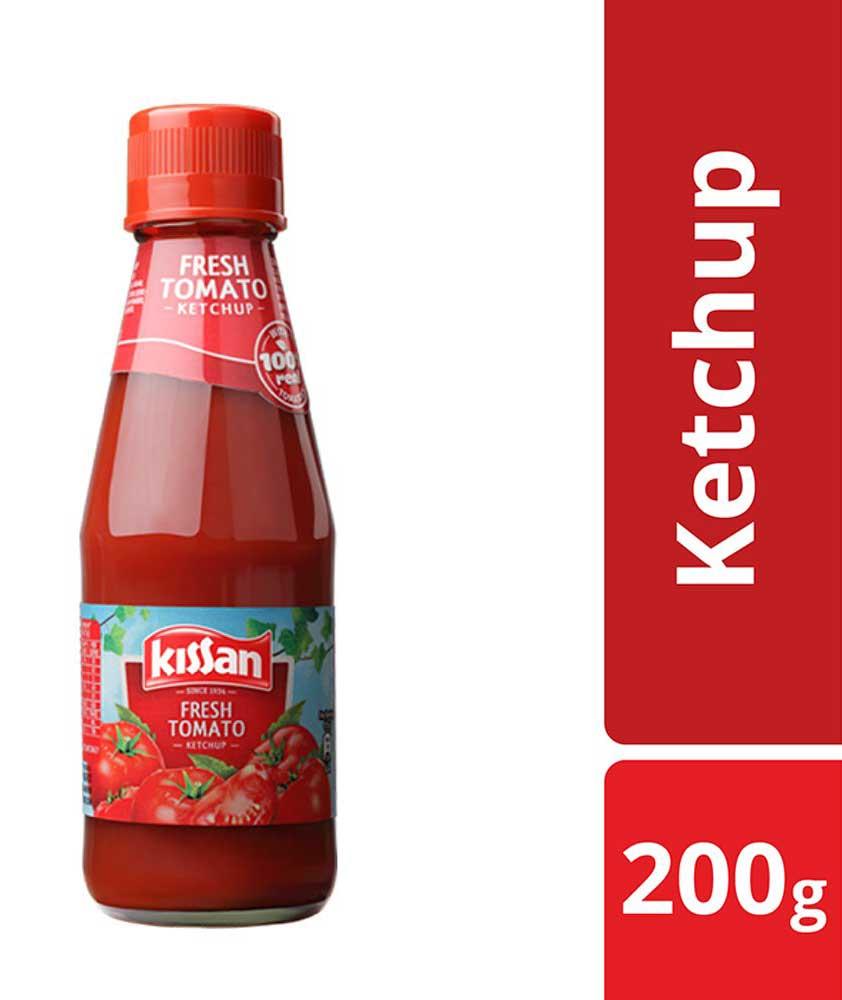 Kissan Fresh Tomato Ketchup Bottle, 200g