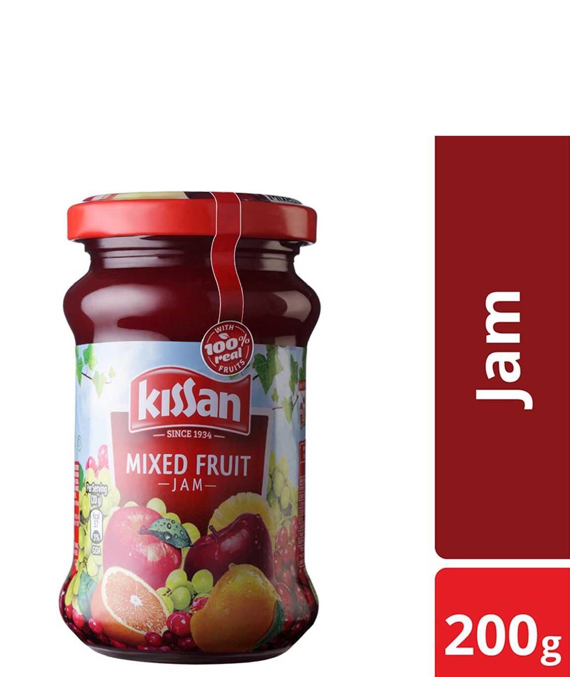 Kissan Mixed Fruit Jam Jar, 200g