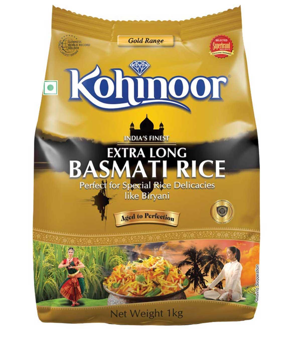 Kohinoor Extra Long Gold Basmati Rice, 1kg