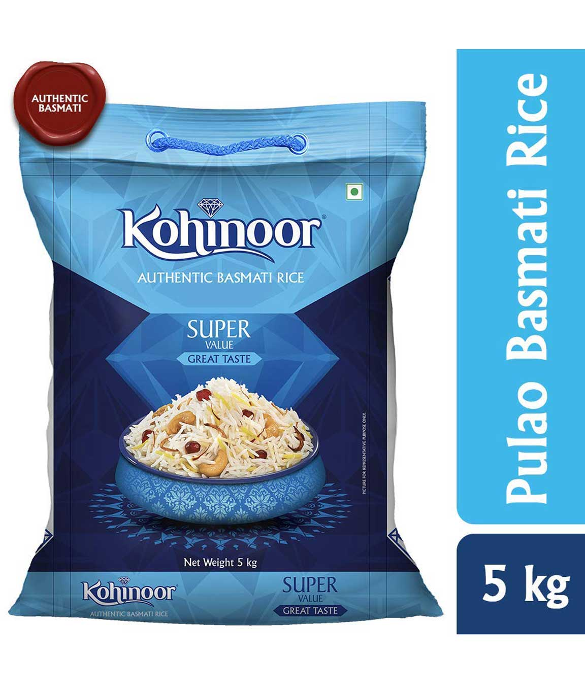 Kohinoor Super Value Basmati Rice, Blue, 5kg