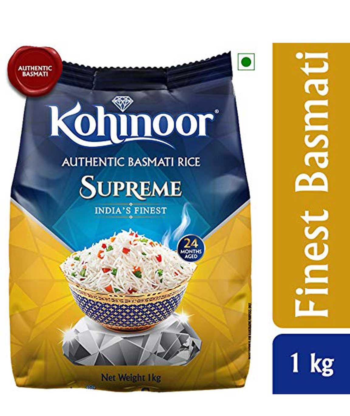 Kohinoor Supreme Authentic Aged Basmati Rice, 1kg