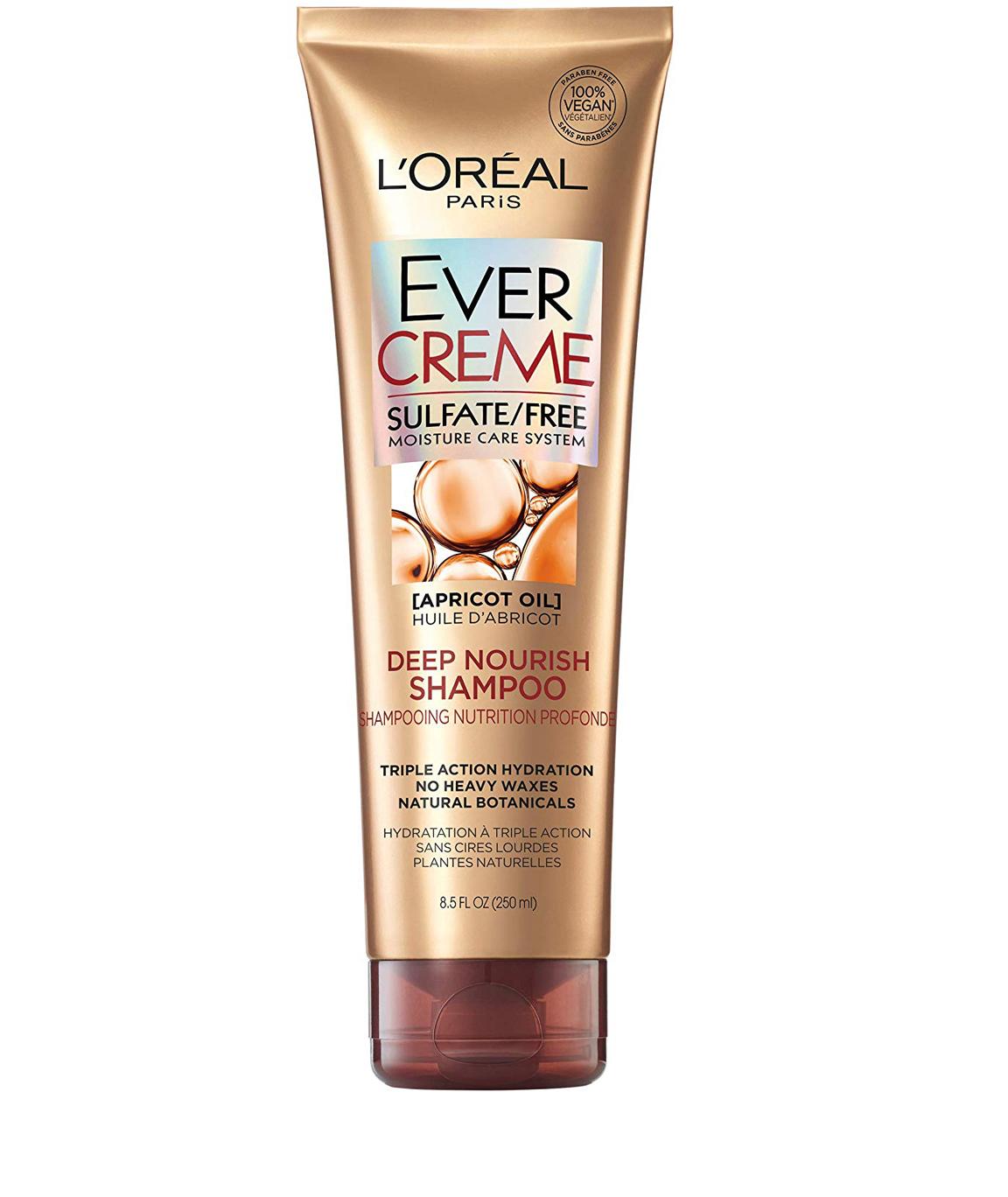 L`Oréal Paris EverCreme Sulfate Free Deep Nourish Shampoo, 8.5 fl. oz.