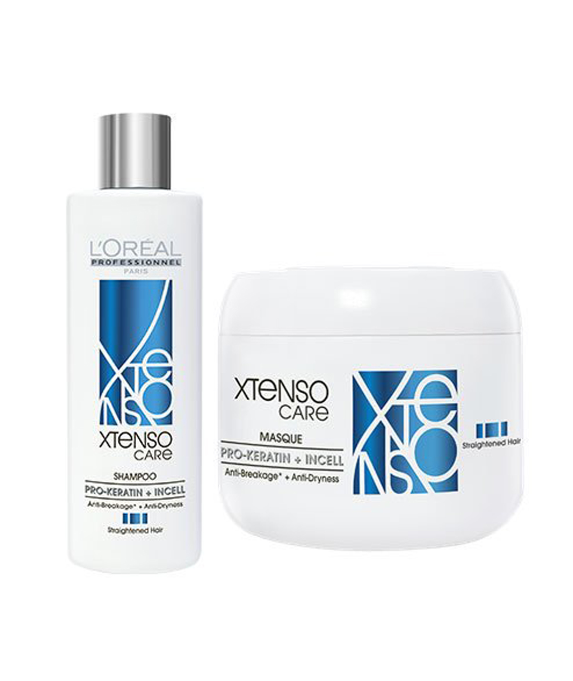 L`Oreal Paris Professional X-tenso Care Straight Shampoo 230 ml and Masque 196 g Combo Pack