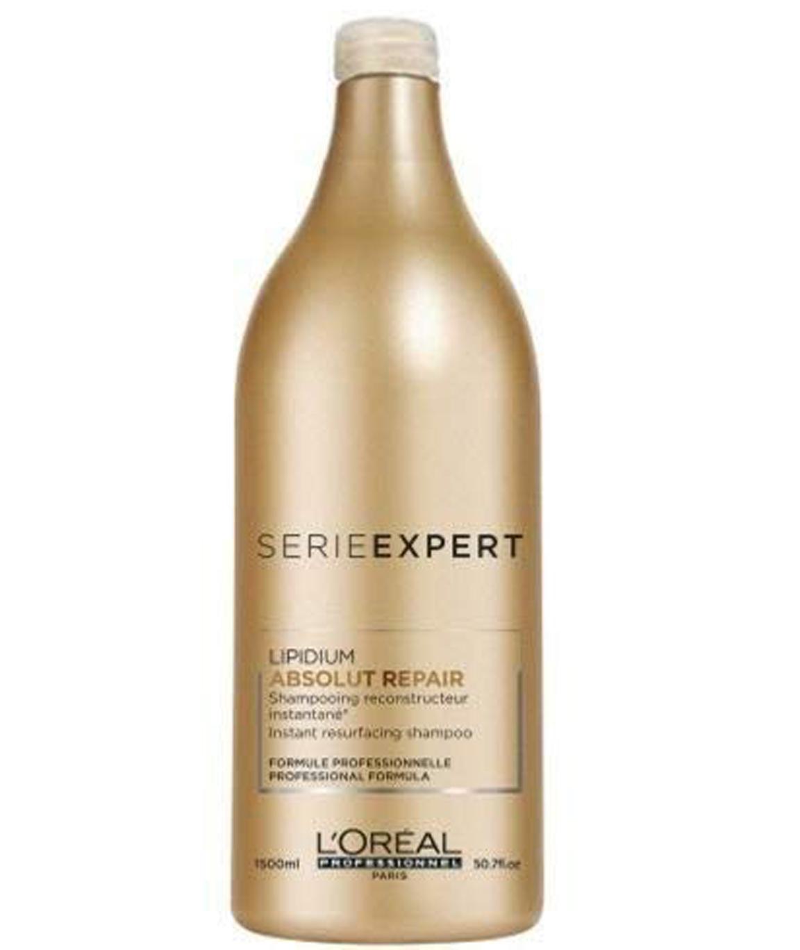 L`Oreal Paris Professionnel Expert Serie - Absolut Repair Lipidium Instant Resurfacing Shampoo for Very Damaged Hair, 1500ml/50.7oz
