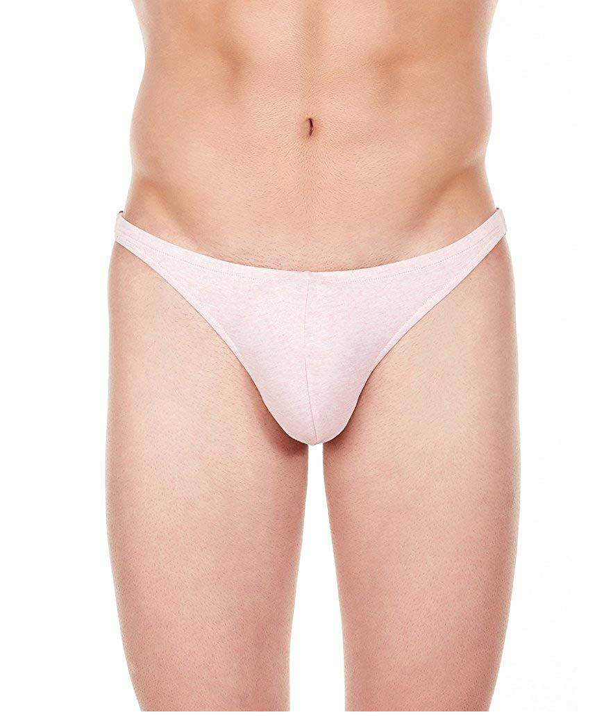 La Intimo Men`s Pink Cotton Spandex Bound Back Jock