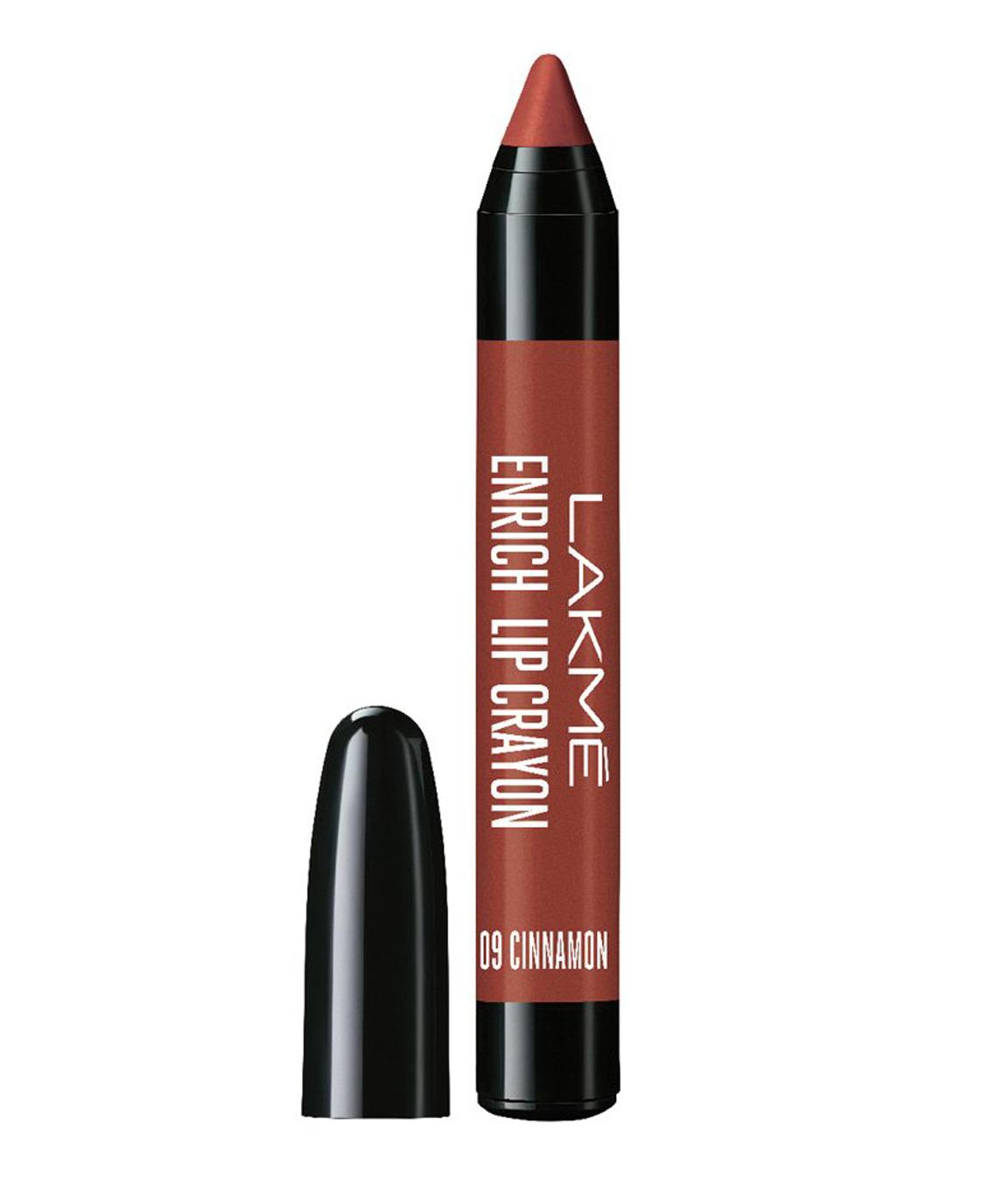Lakme Enrich Lip Crayon, Cinnamon Brown, 2.2gm