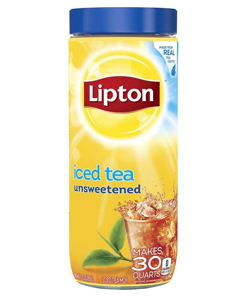 Lipton Iced Tea Unsweetened Glass Bottle, 85g