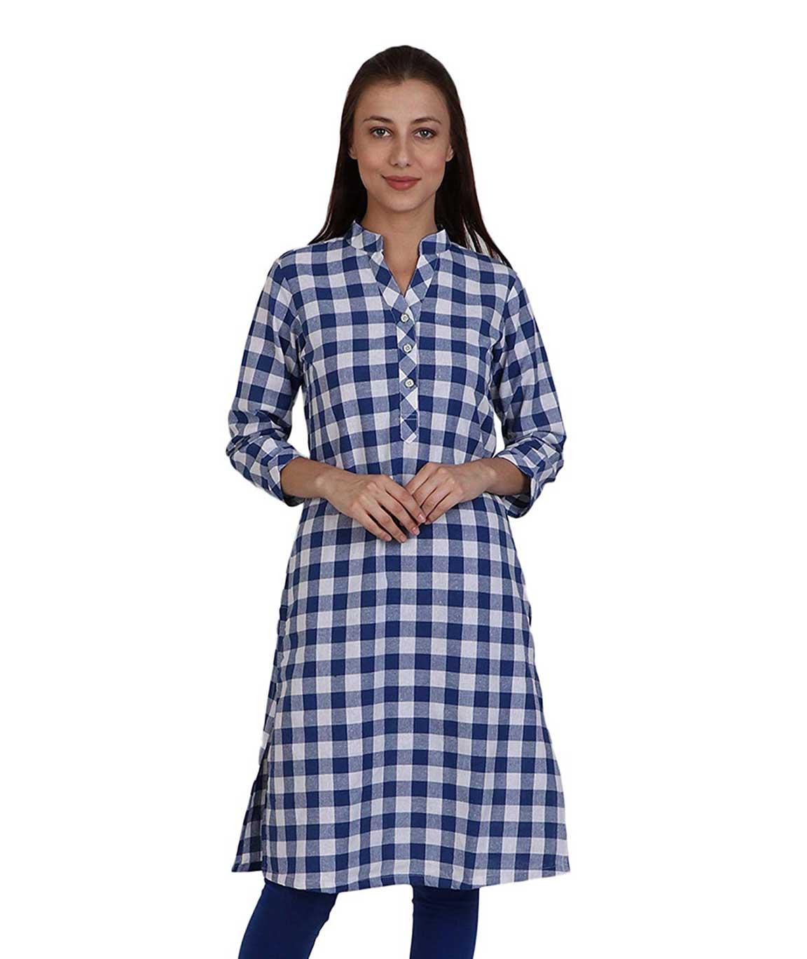 Makxziya Women`s Cotton A line Kurta