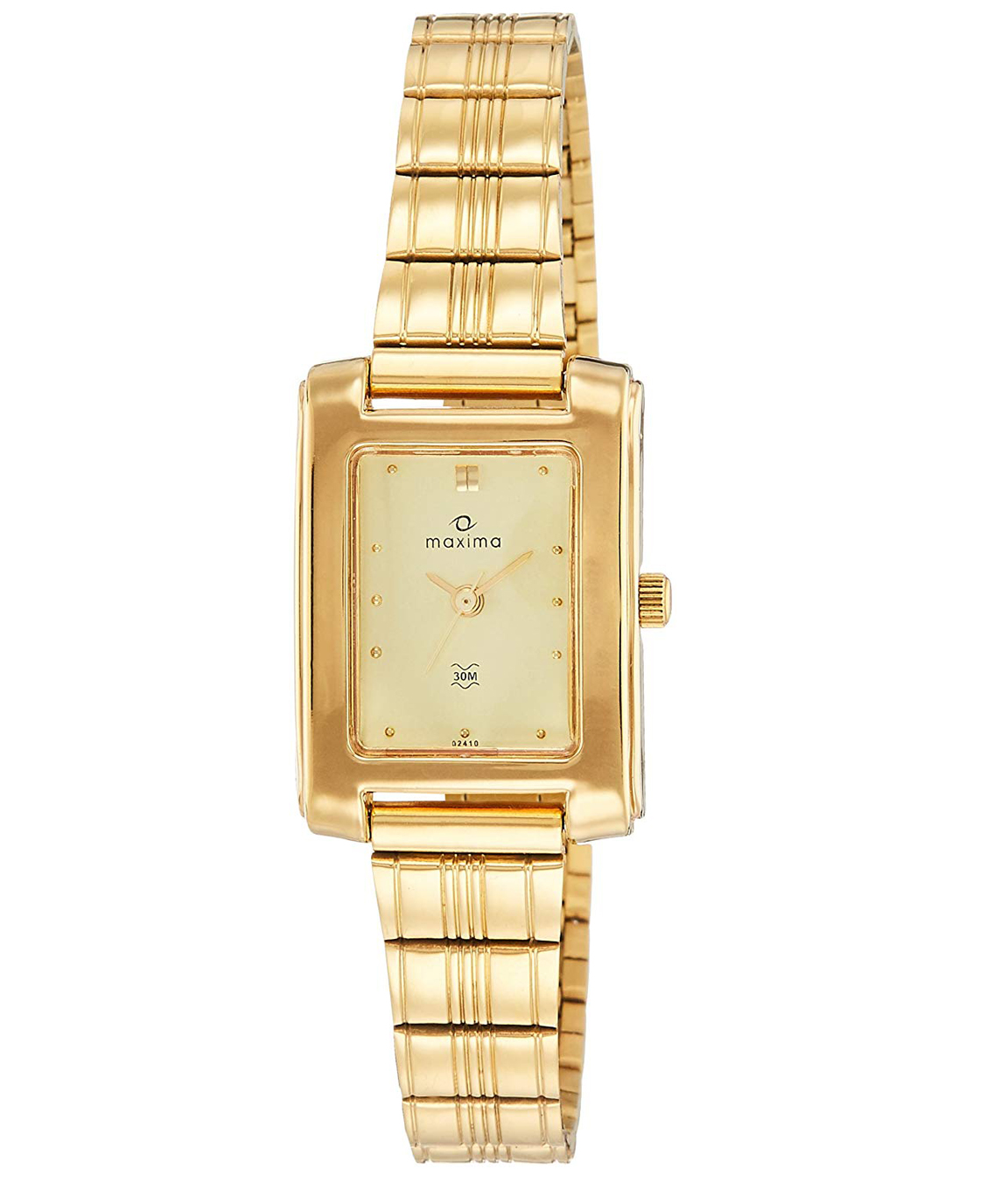 Maxima Analog Gold Dial Women`s Watch - 02410CPLY