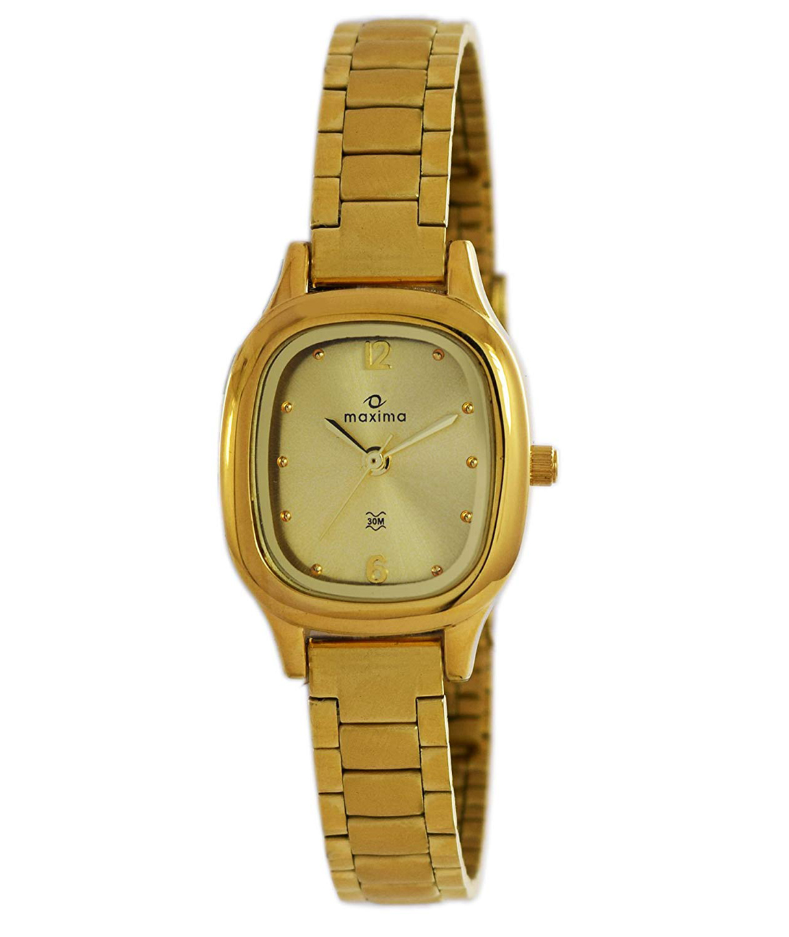 Maxima Analog Gold Dial Women`s Watch - 40011CMLY