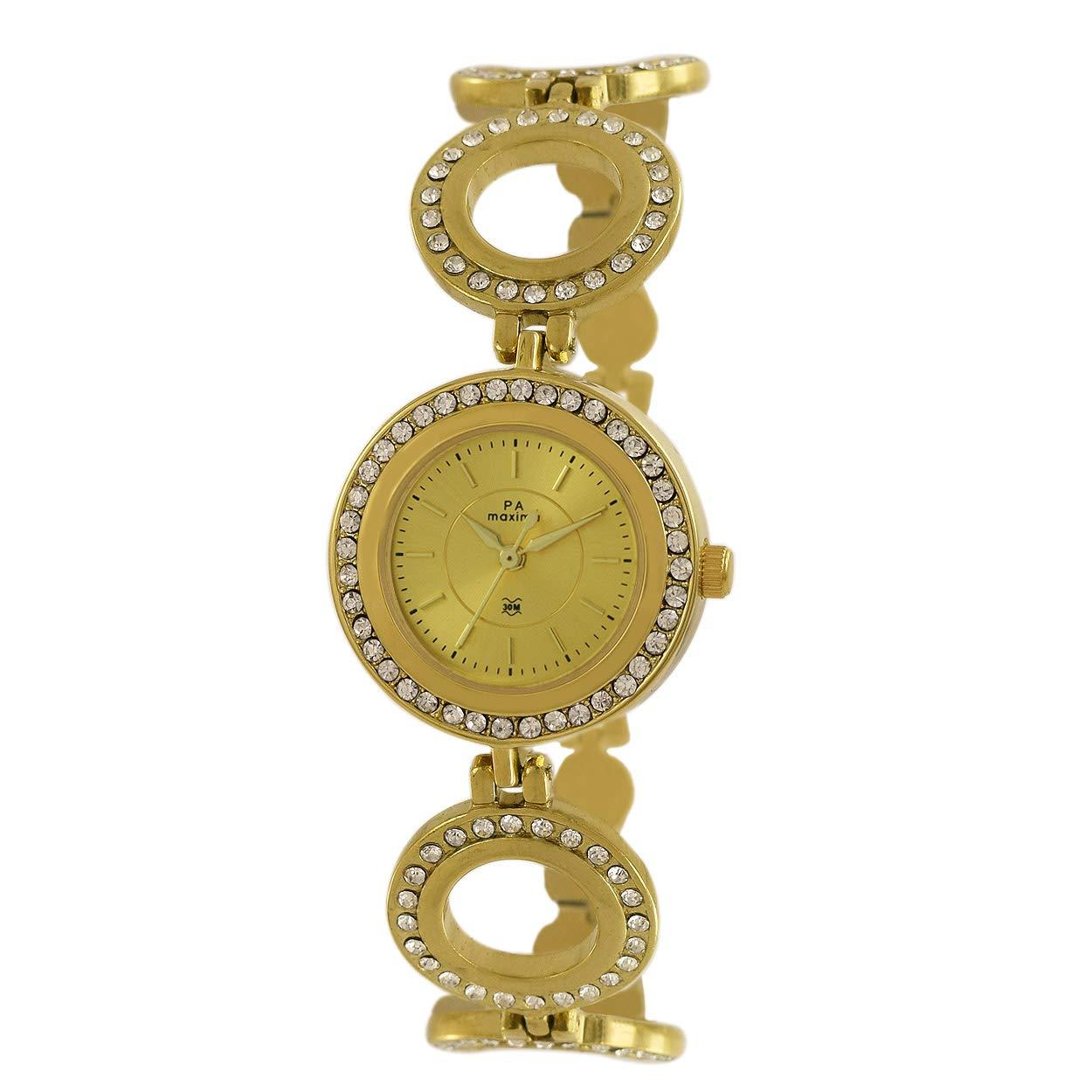 MAXIMA Analog Gold Dial Women`s Watch-52681BMLY