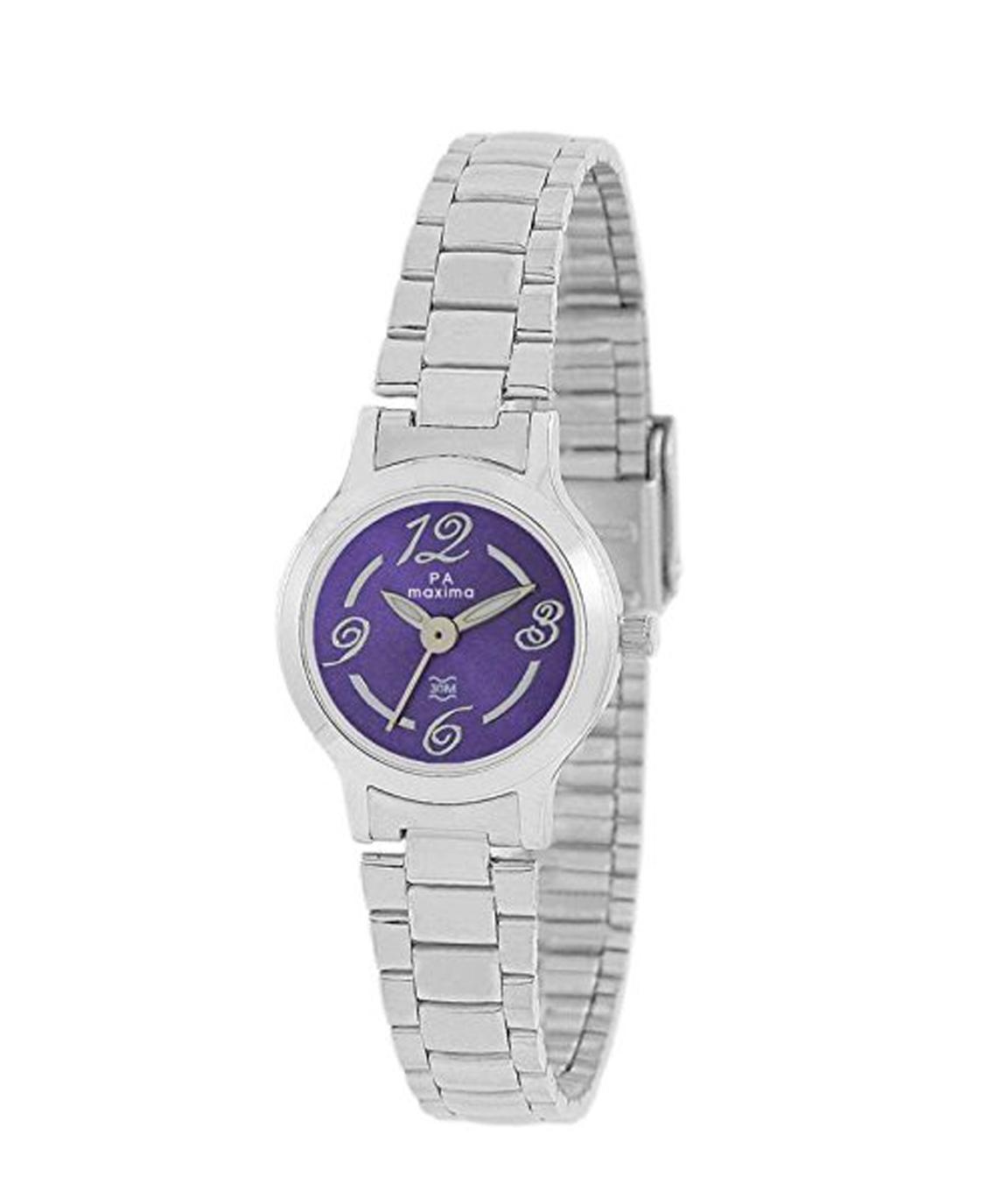 Maxima Analog Purple Dial Women`s Watch - 10079CMLI