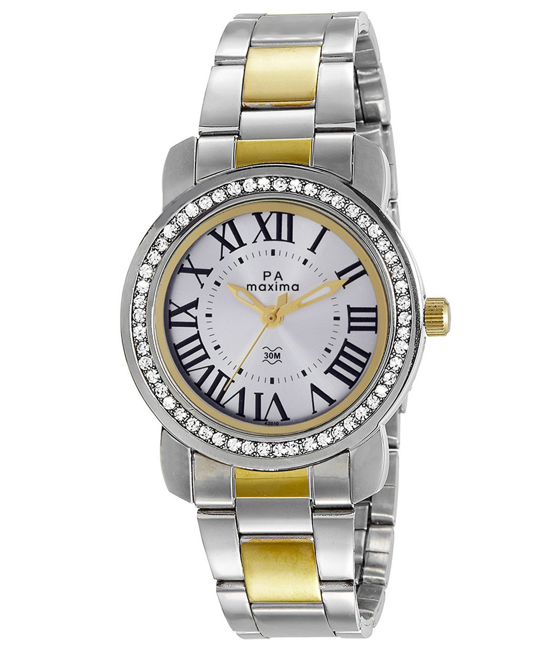 Maxima Analog Silver Dial Women`s Watch - 43010CMLT