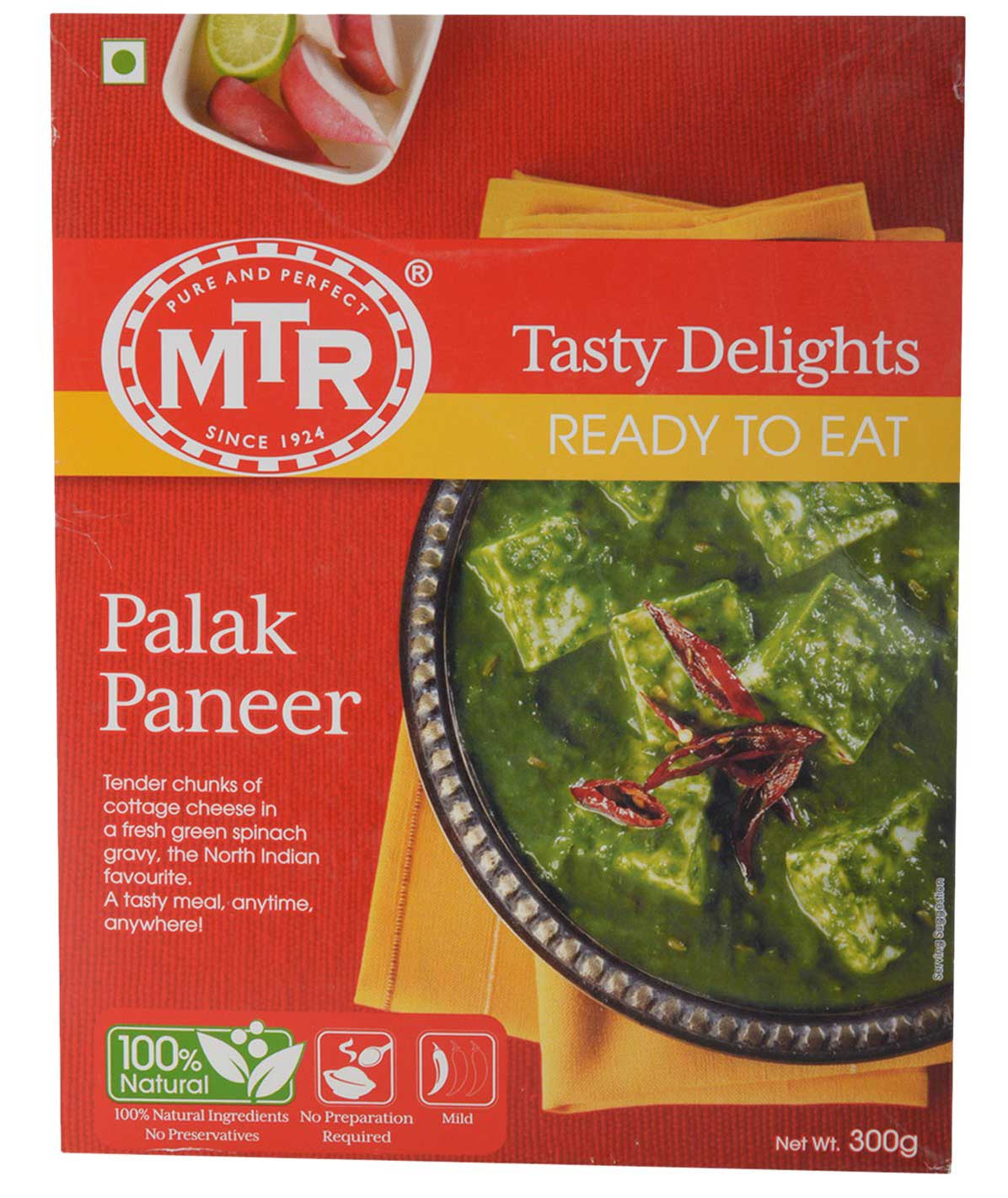 MTR Ready to Eat Palak Paneer, 300g