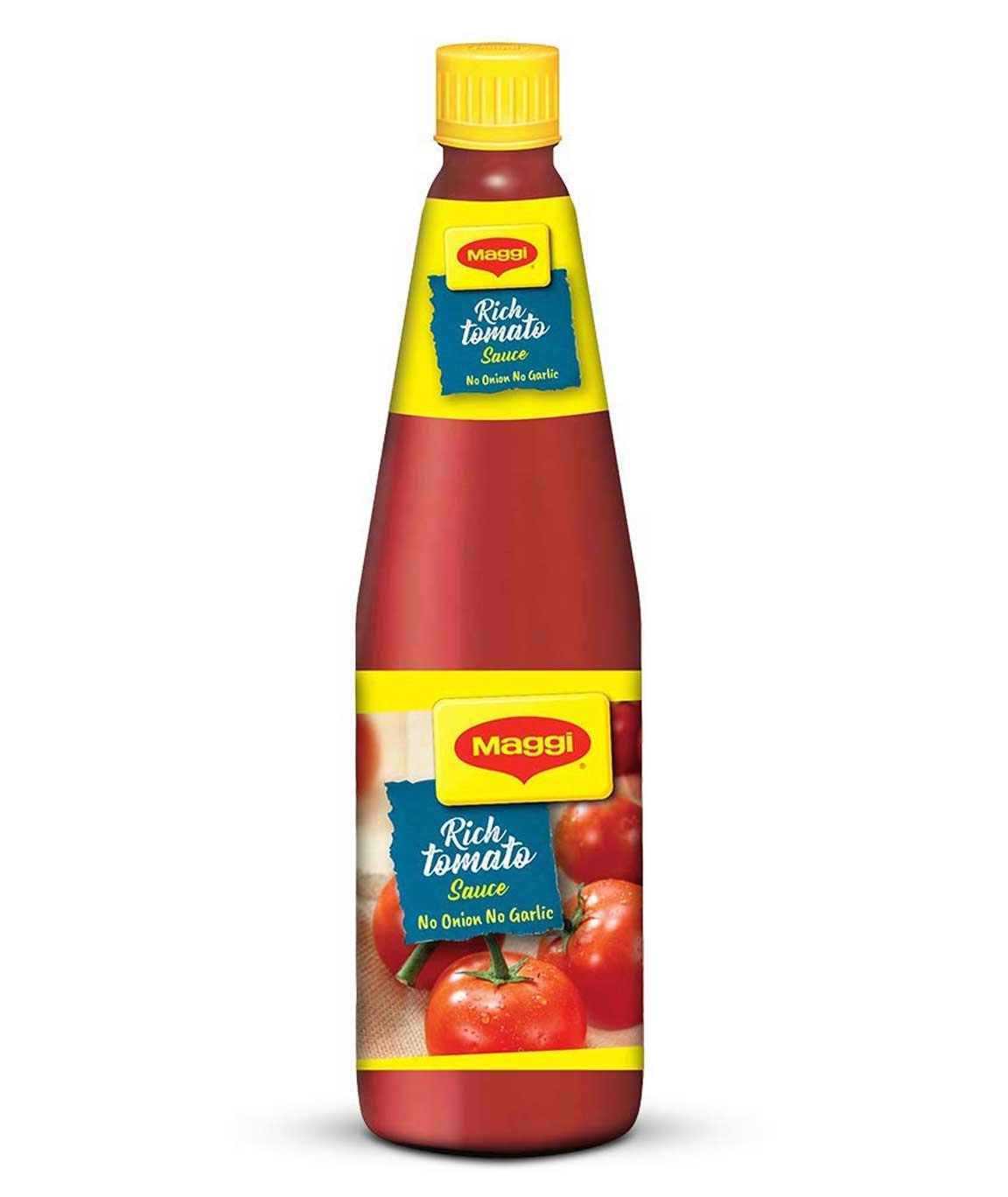 Nestle Maggi Tomato Sauce, No Onion No Garlic, 500g Bottle