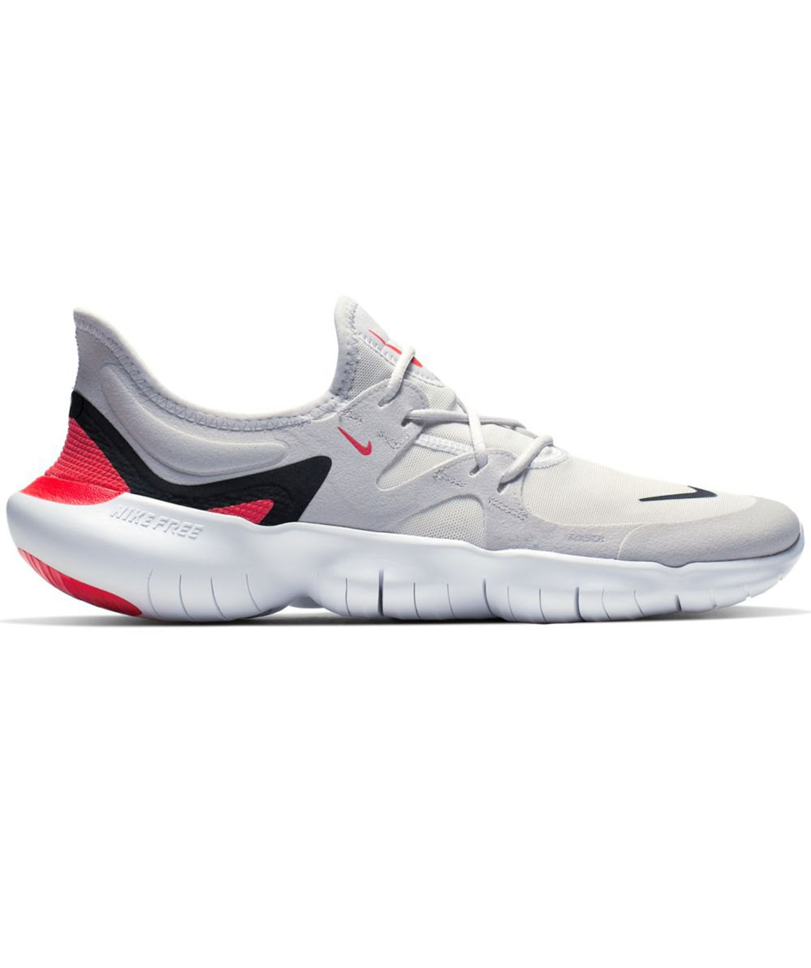 NIKE FREE RN 5.0 GREY LACE-UP SPORTS SHOES