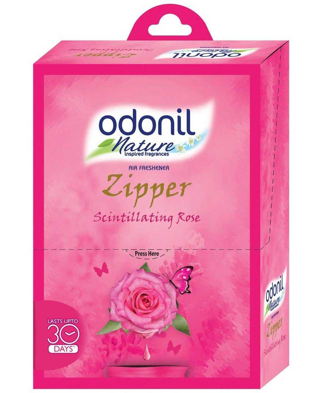 Odonil Airfreshener Zipper Scintillating Rose - 10 gm (Pack of 6)