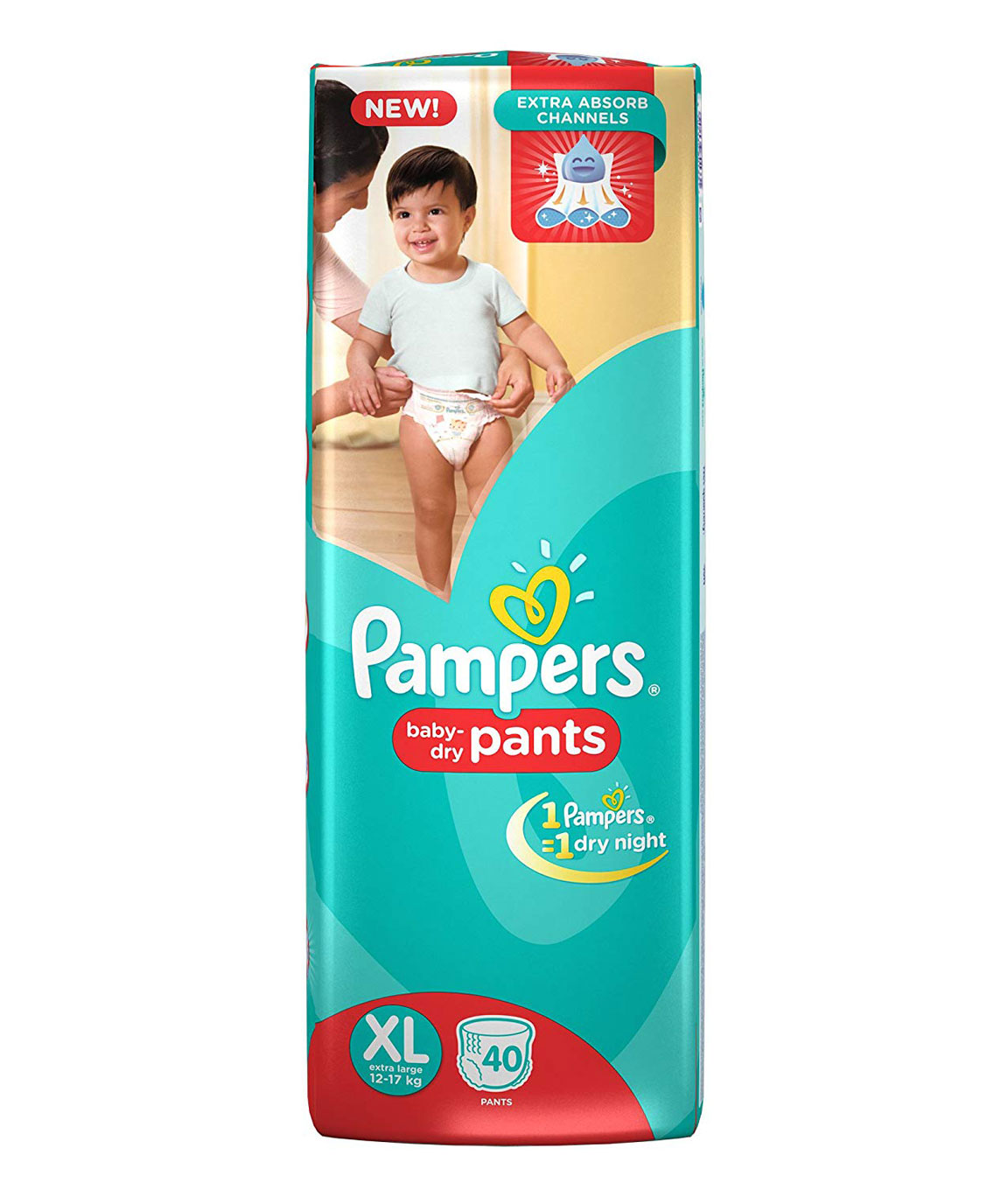 Pampers Extra Large Size Diaper Pants (40 Count)