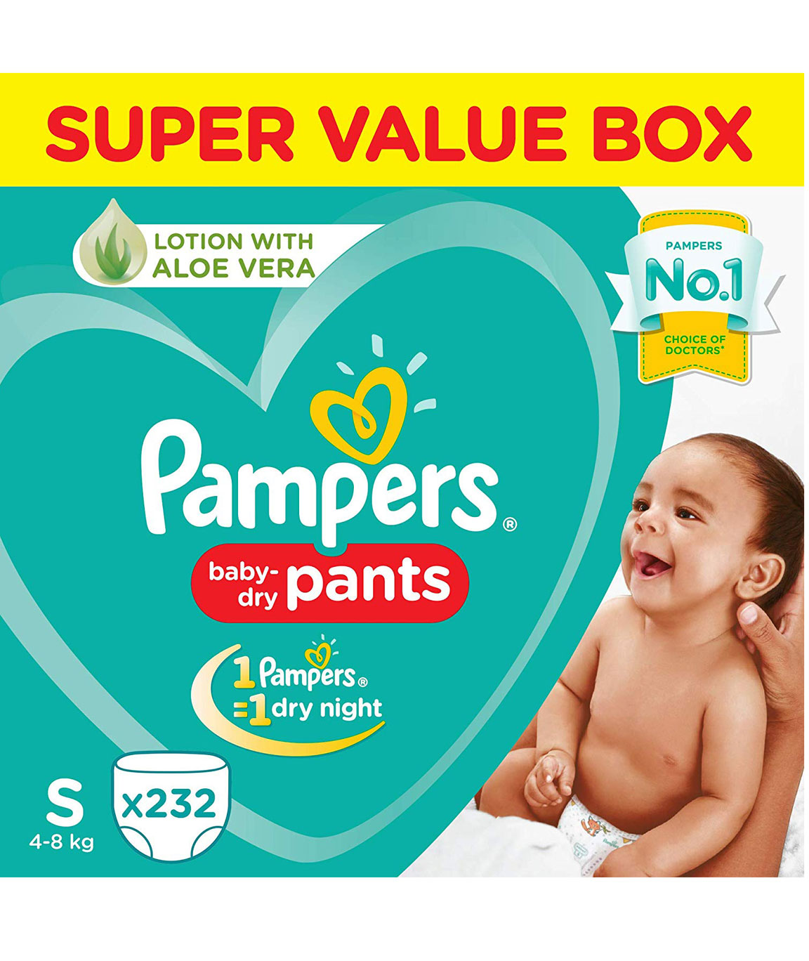 Pampers New Diaper Pants Super Value Box, Small (Pack of 232)