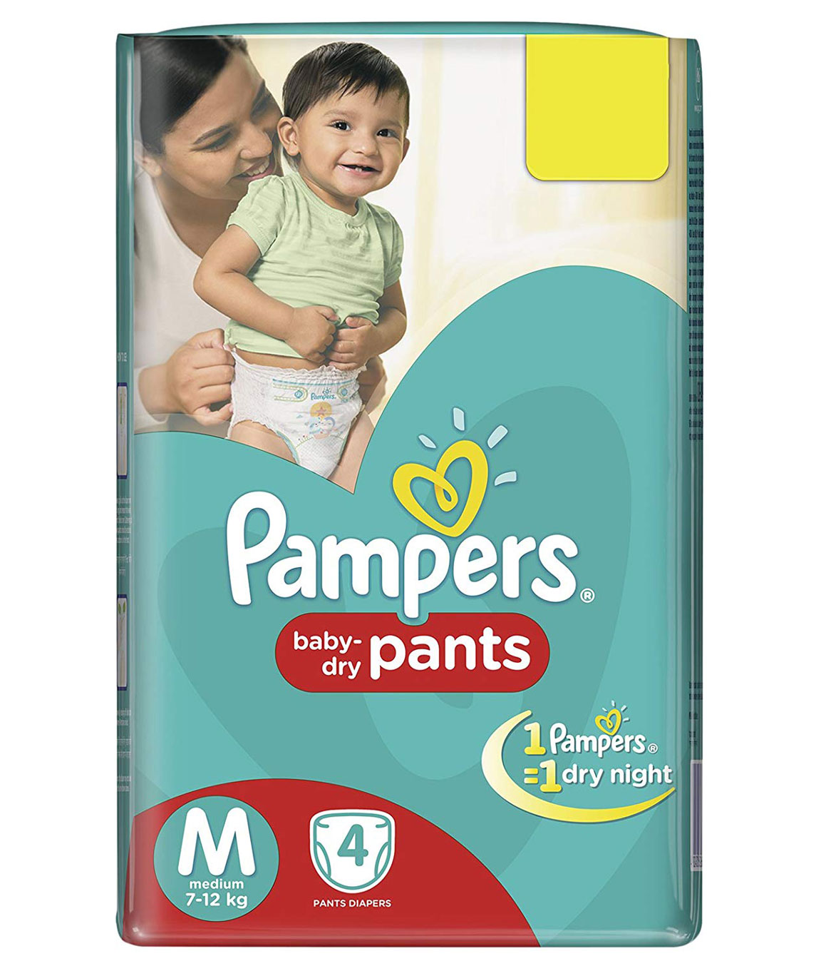 Pampers New Diapers Pants, Medium, 4 Count