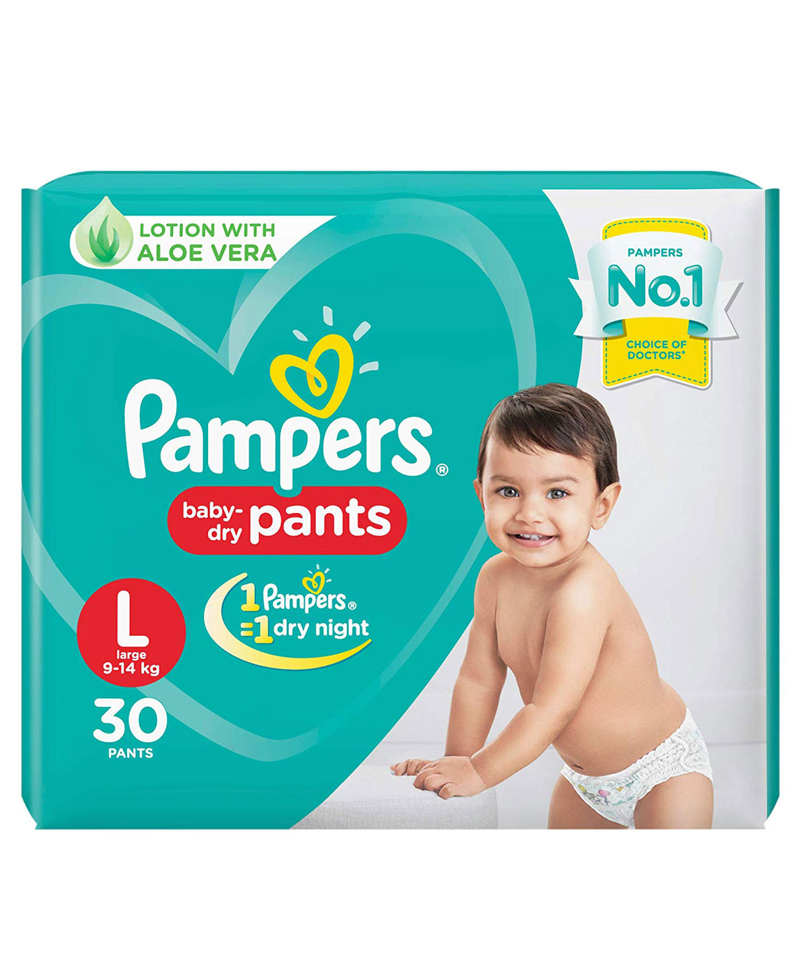 Pampers New Large Size Diapers Pants, 30 Count